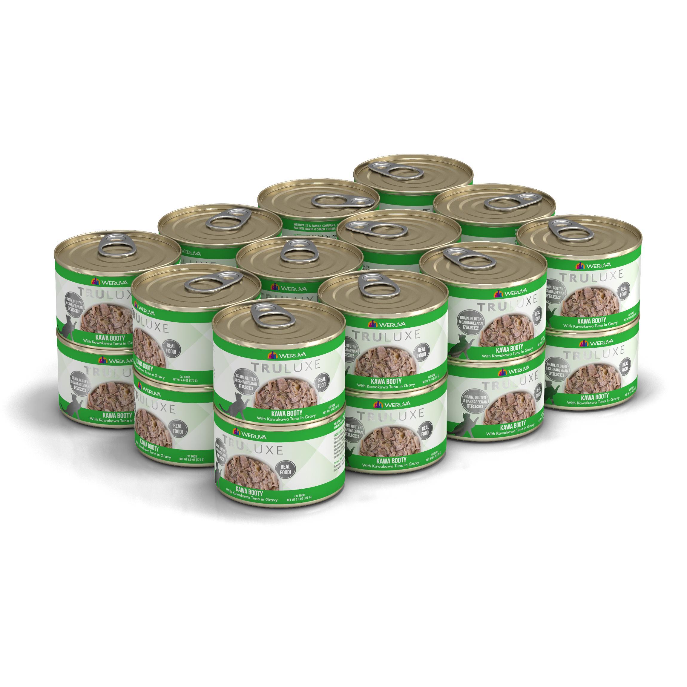 Weruva Cat Truluxe Kawa Booty with Kawakawa Tuna in Gravy Grain-Free Wet Cat Food, 6-oz, case of 24
