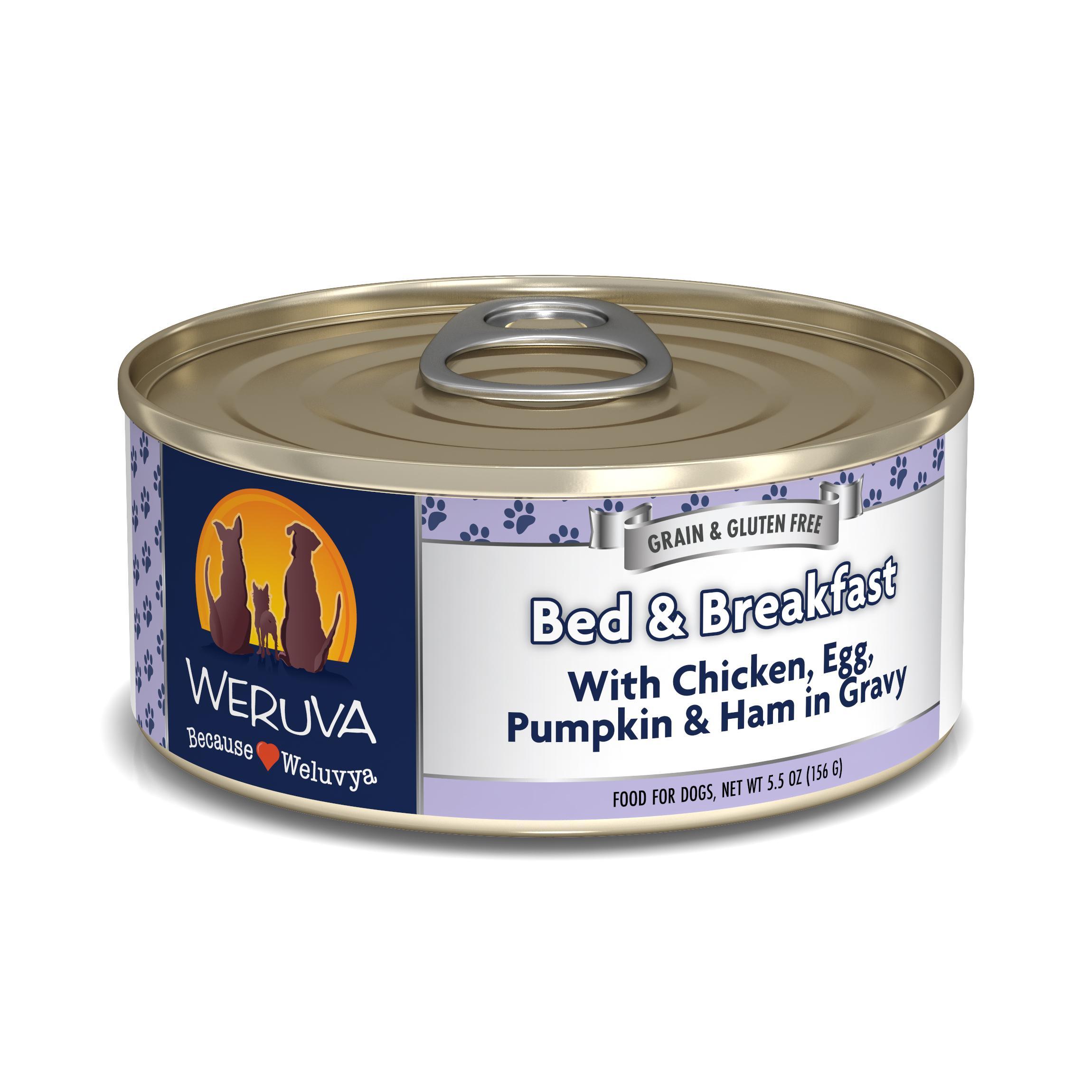 Weruva Dog Classic Bed & Breakfast with Chicken, Egg, & Pumpkin in Gravy Grain-Free Wet Dog Food Image