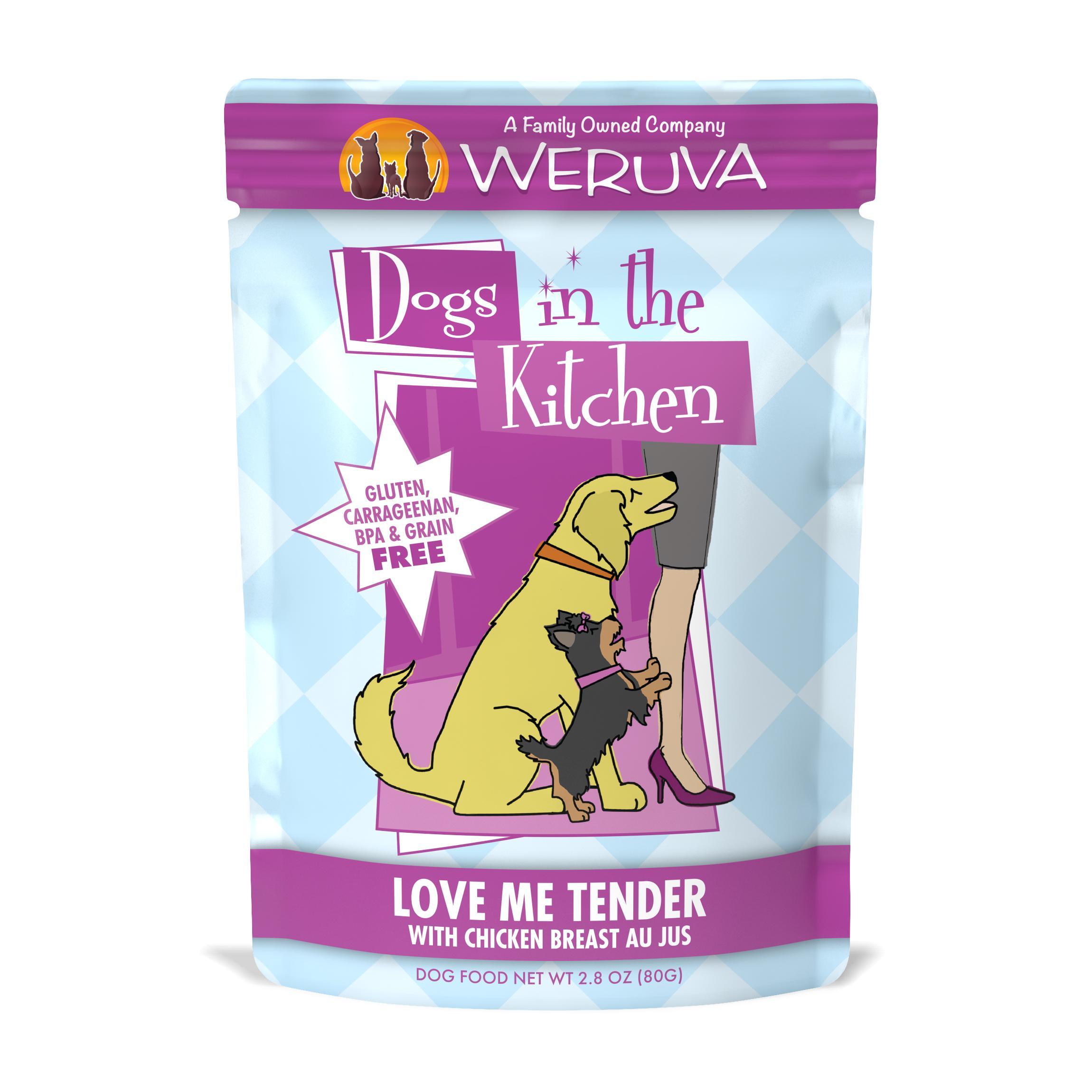 Weruva Dogs in the Kitchen Love Me Tender with Chicken Breast Au Jus Grain-Free Wet Dog Food, 2.8-oz