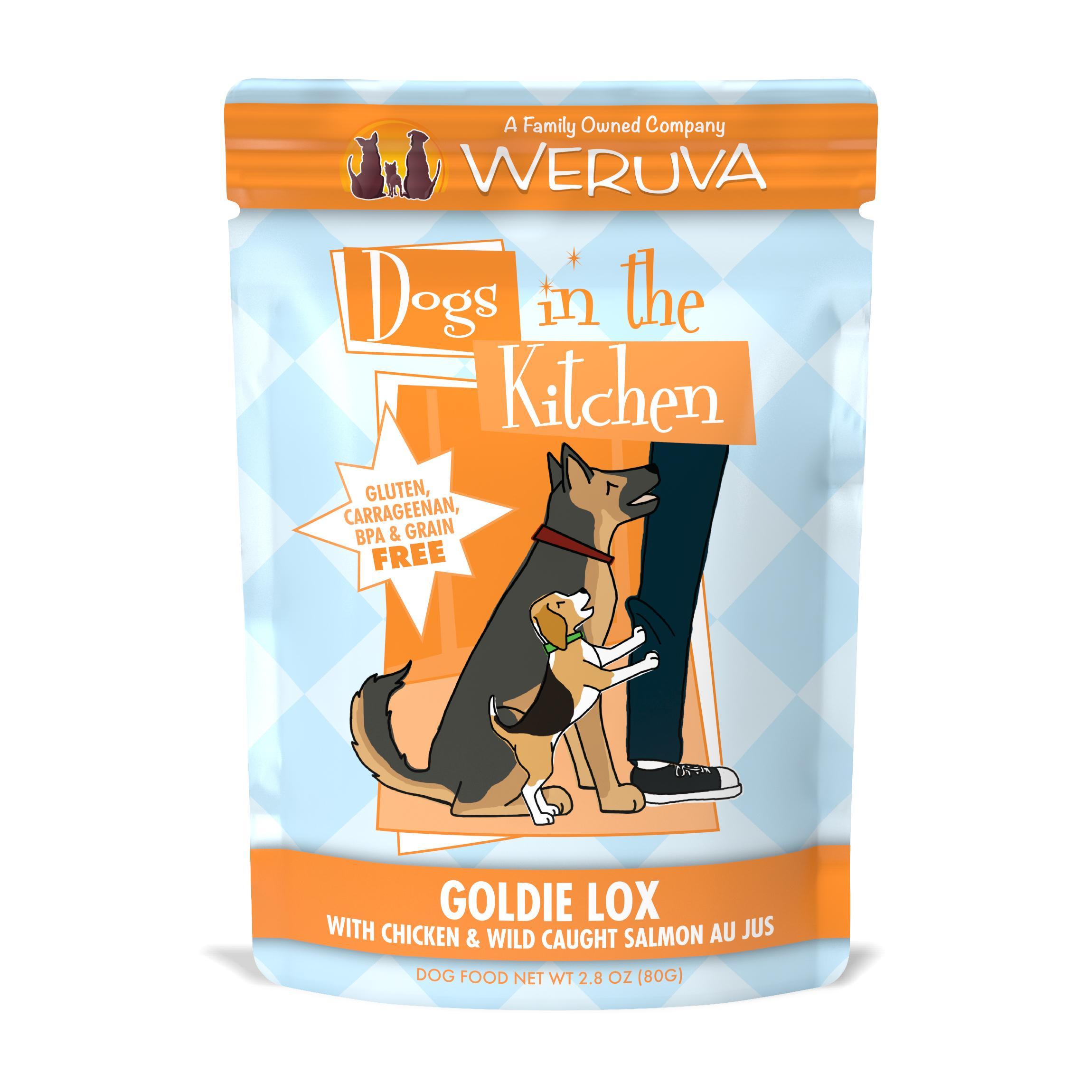 Weruva Dogs in the Kitchen Goldie Lox with Chicken & Wild Caught Salmon Au Jus Grain-Free Wet Dog Food, 2.8-oz