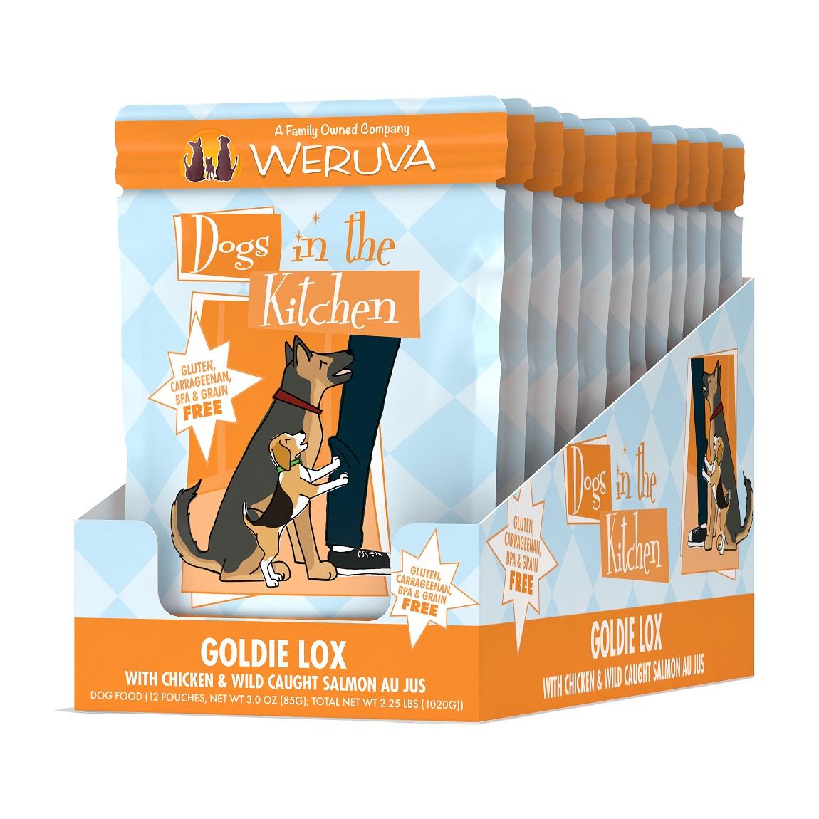 Weruva Dogs in the Kitchen Goldie Lox with Chicken & Wild Caught Salmon Au Jus Grain-Free Wet Dog Food, 2.8-oz, case of 12