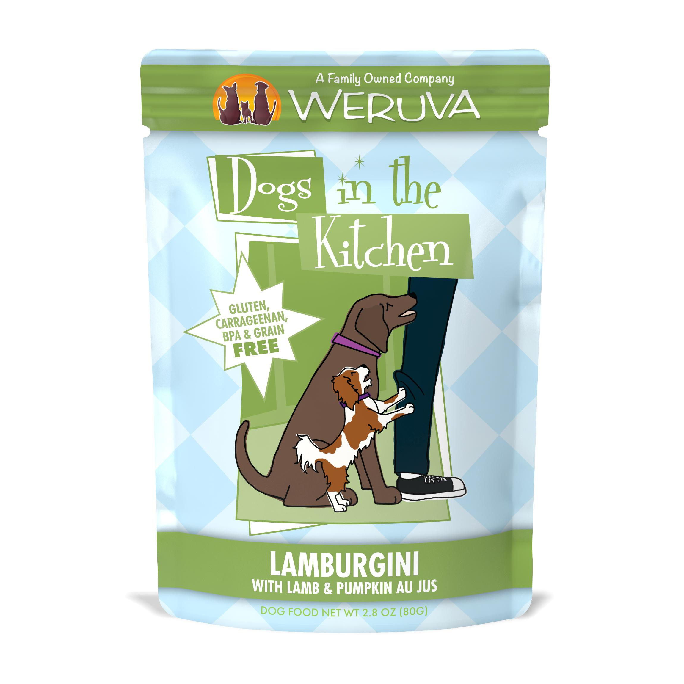 Weruva Dogs in the Kitchen Lamburgini with Lamb & Pumpkin Au Jus Grain-Free Wet Dog Food, 2.8-oz