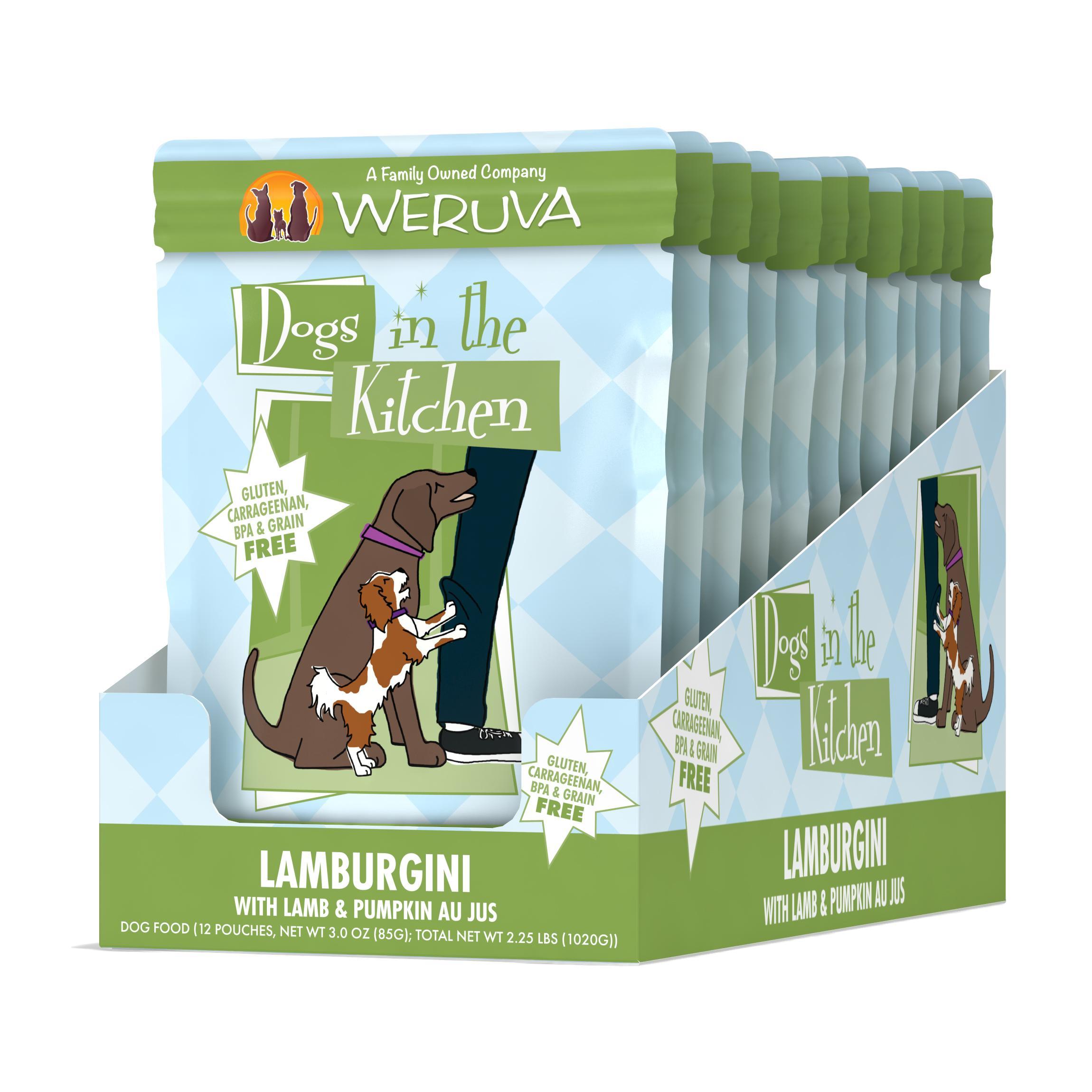 Weruva Dogs in the Kitchen Lamburgini with Lamb & Pumpkin Au Jus Grain-Free Wet Dog Food, 2.8-oz, case of 12