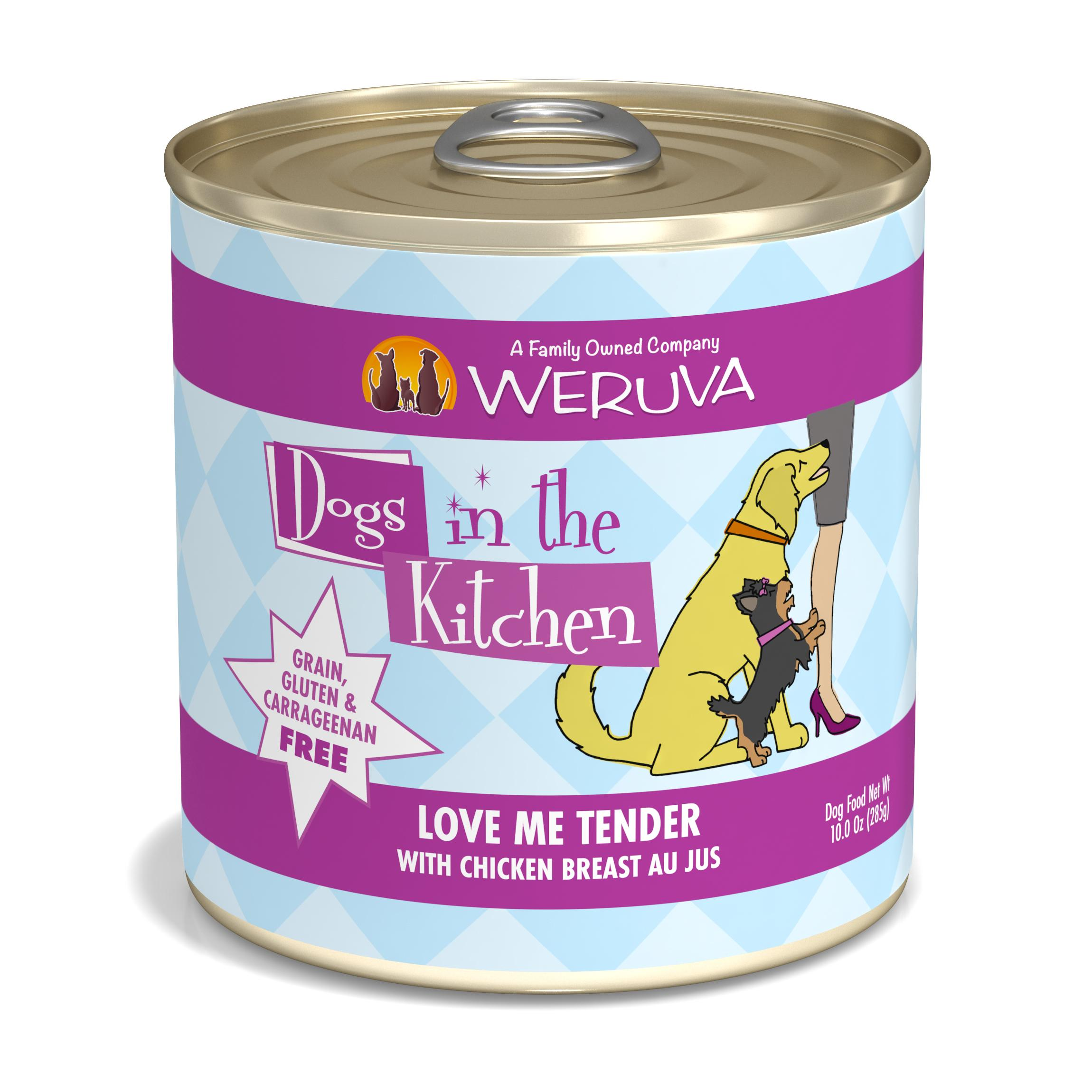 Weruva Dogs in the Kitchen Love Me Tender with Chicken Breast Au Jus Grain-Free Wet Dog Food, 10-oz can