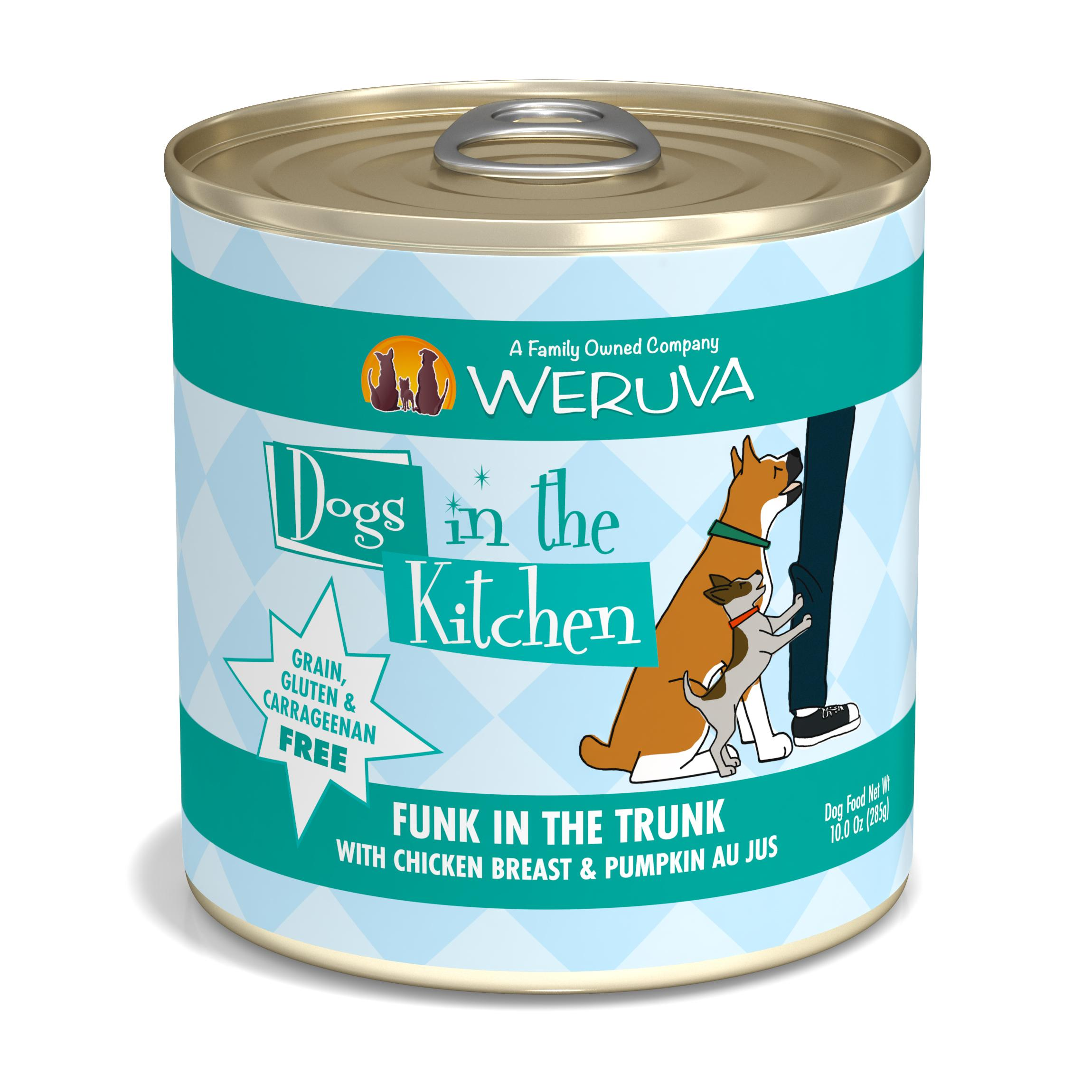 Weruva Dogs in the Kitchen Funk in the Trunk with Chicken Breast & Pumpkin Au Jus Grain-Free Wet Dog Food, 10-oz can