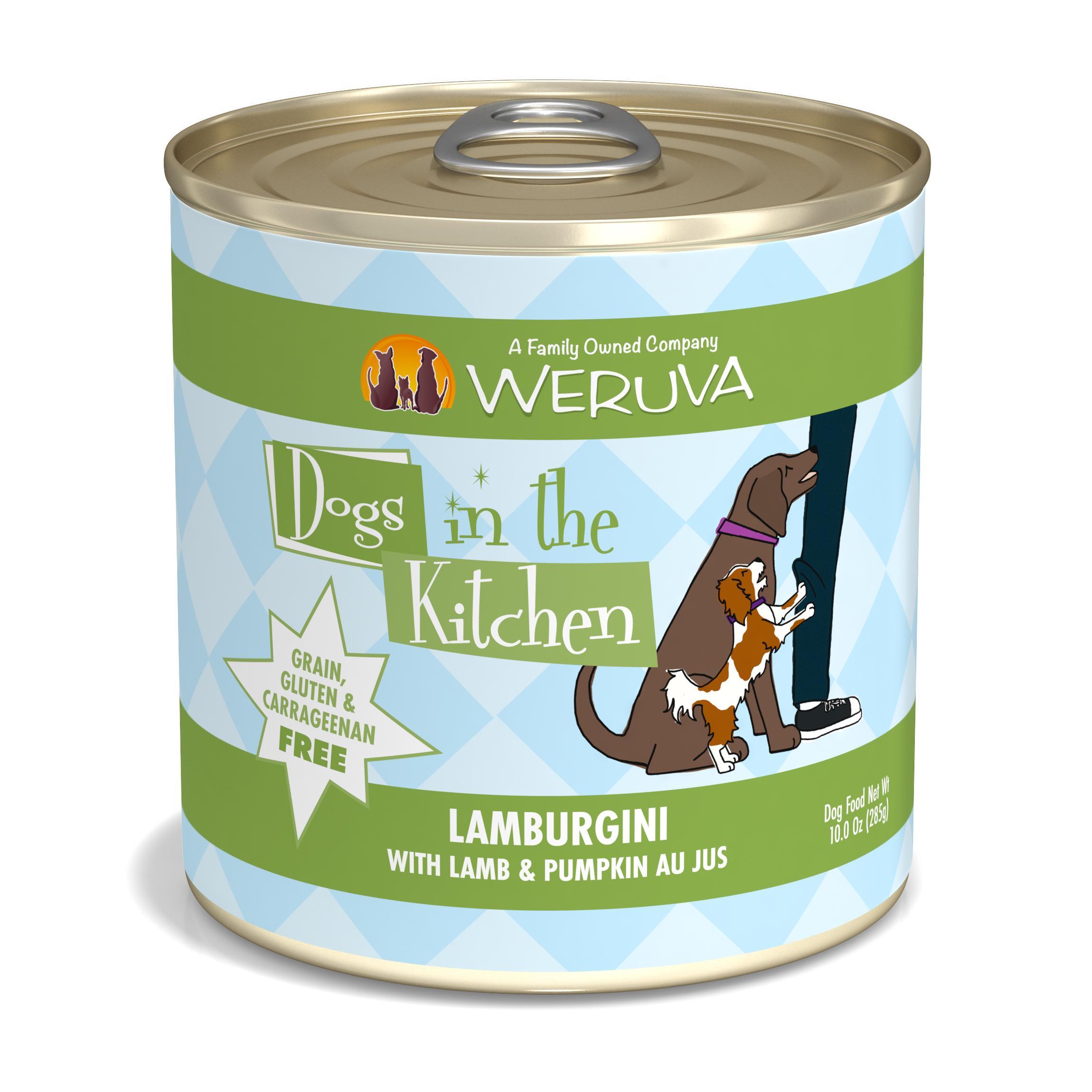 Weruva Dogs in the Kitchen Lamburgini with Lamb & Pumpkin Au Jus Grain-Free Wet Dog Food, 10-oz can