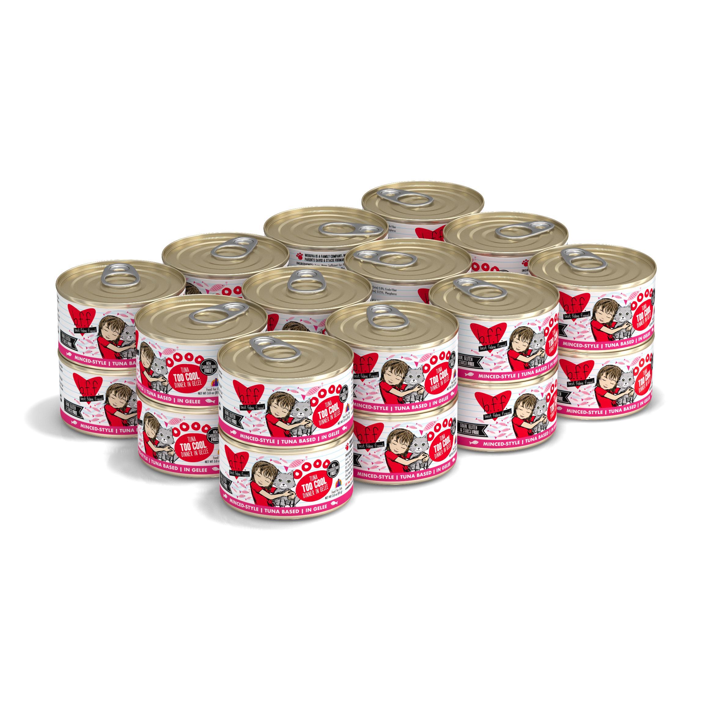 BFF Originals Too Cool Tuna Dinner in Gelee Grain-Free Wet Cat Food, 3-oz, tray of 24