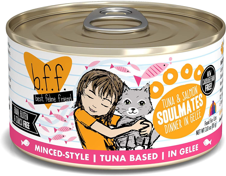 BFF Originals Soulmates Tuna & Salmon Dinner in Gelee Grain-Free Wet Cat Food, 3-oz