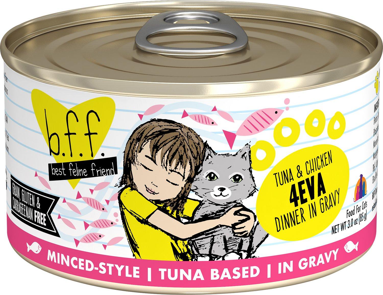 BFF Originals 4EVA Tuna & Chicken Dinner in Gravy Grain-Free Wet Cat Food, 3-oz Size: 3-oz