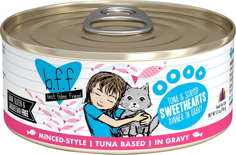 Bff Originals Sweethearts Tuna Shrimp Dinner In Gravy Grain Free Wet Cat Food 5 5 Oz Lizs Pet Shop