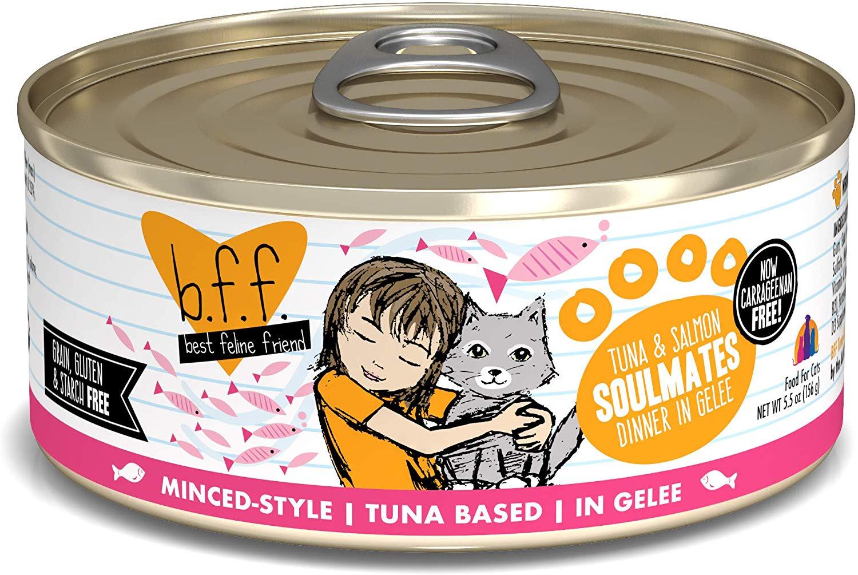 BFF Originals Soulmates Tuna & Salmon Dinner in Gelee Grain-Free Wet Cat Food, 5.5-oz
