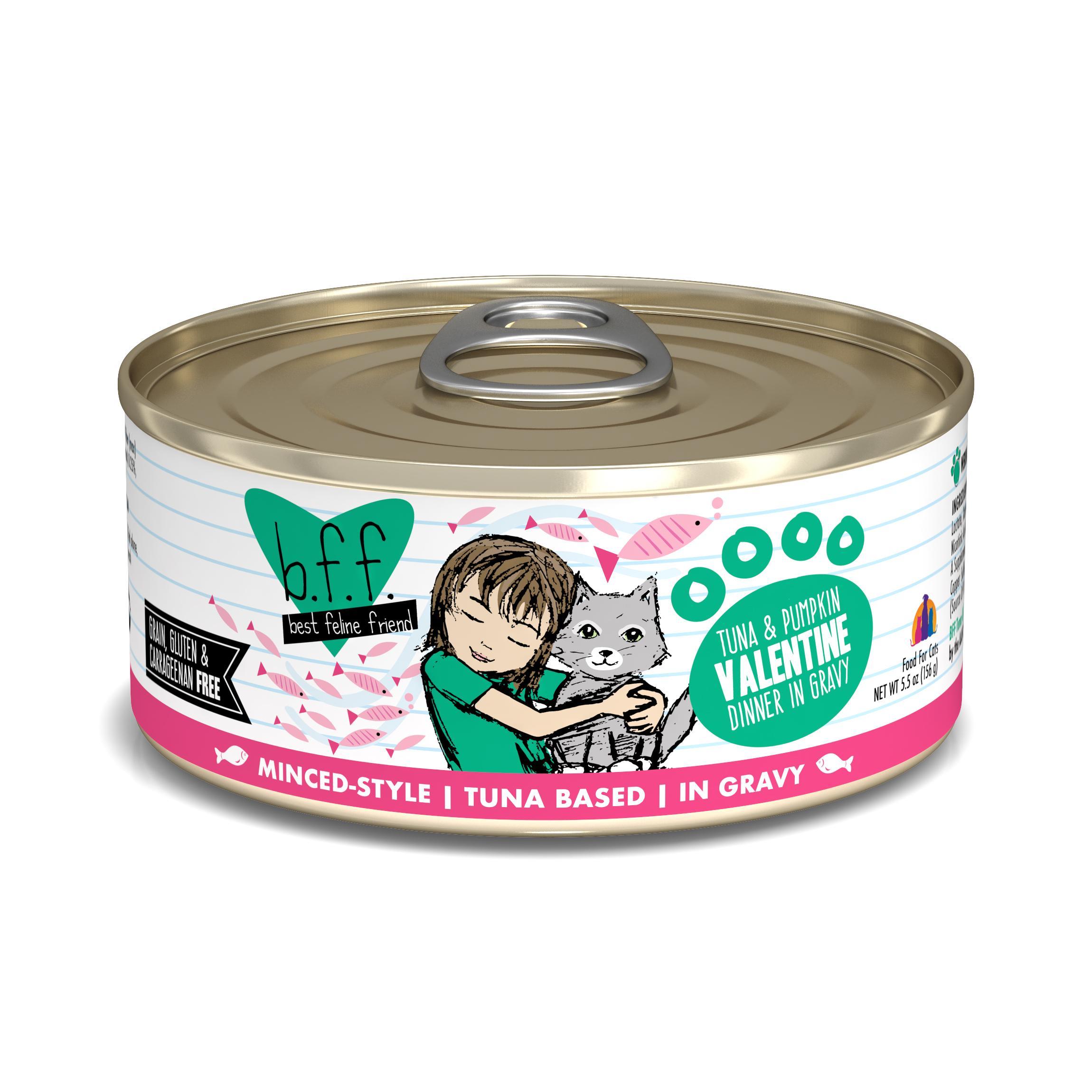 BFF Originals Valentine Tuna & Pumpkin Dinner in Gravy Grain-Free Wet Cat Food, 5.5-oz