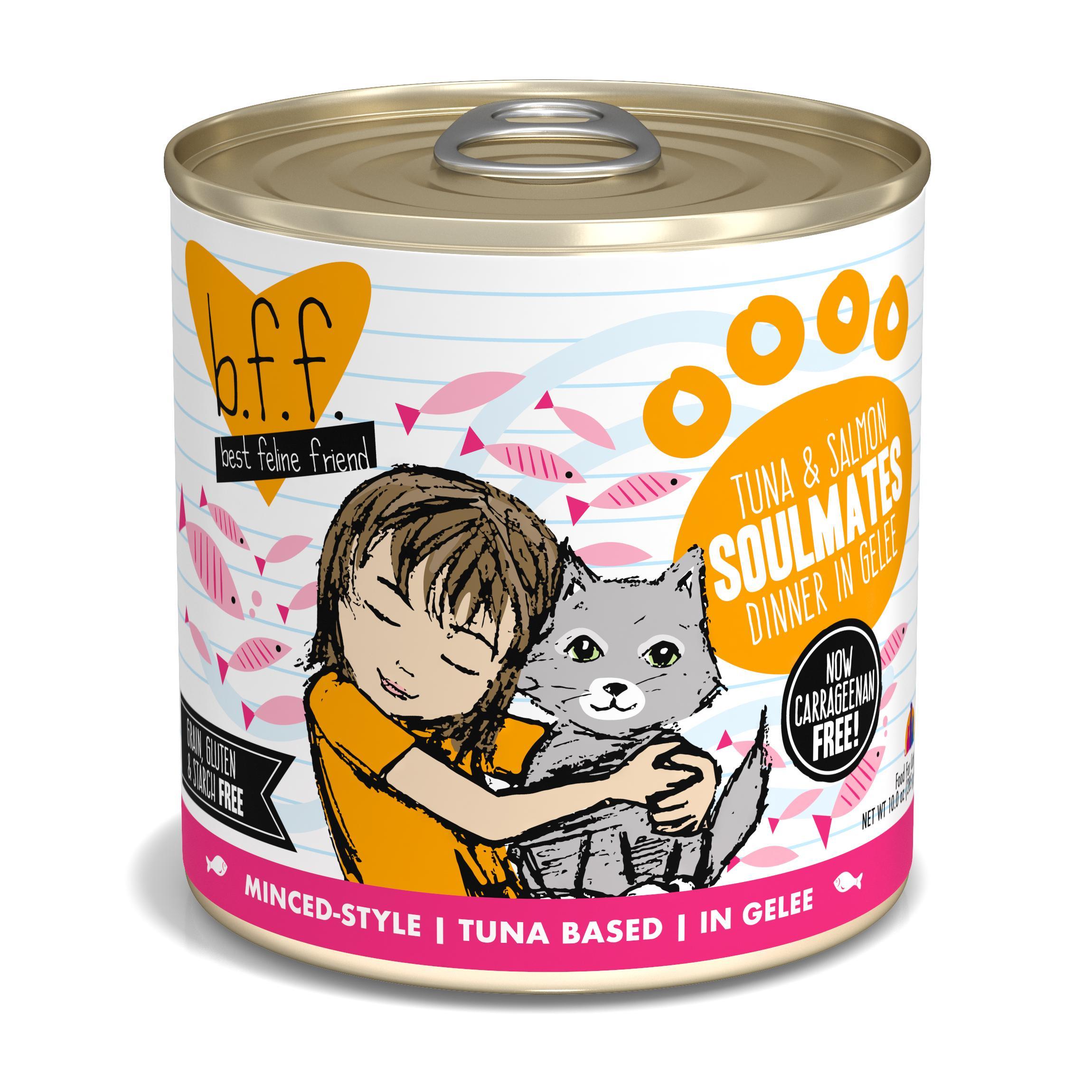 BFF Originals Soulmates Tuna & Salmon Dinner in Gelee Grain-Free Wet Cat Food, 10-oz