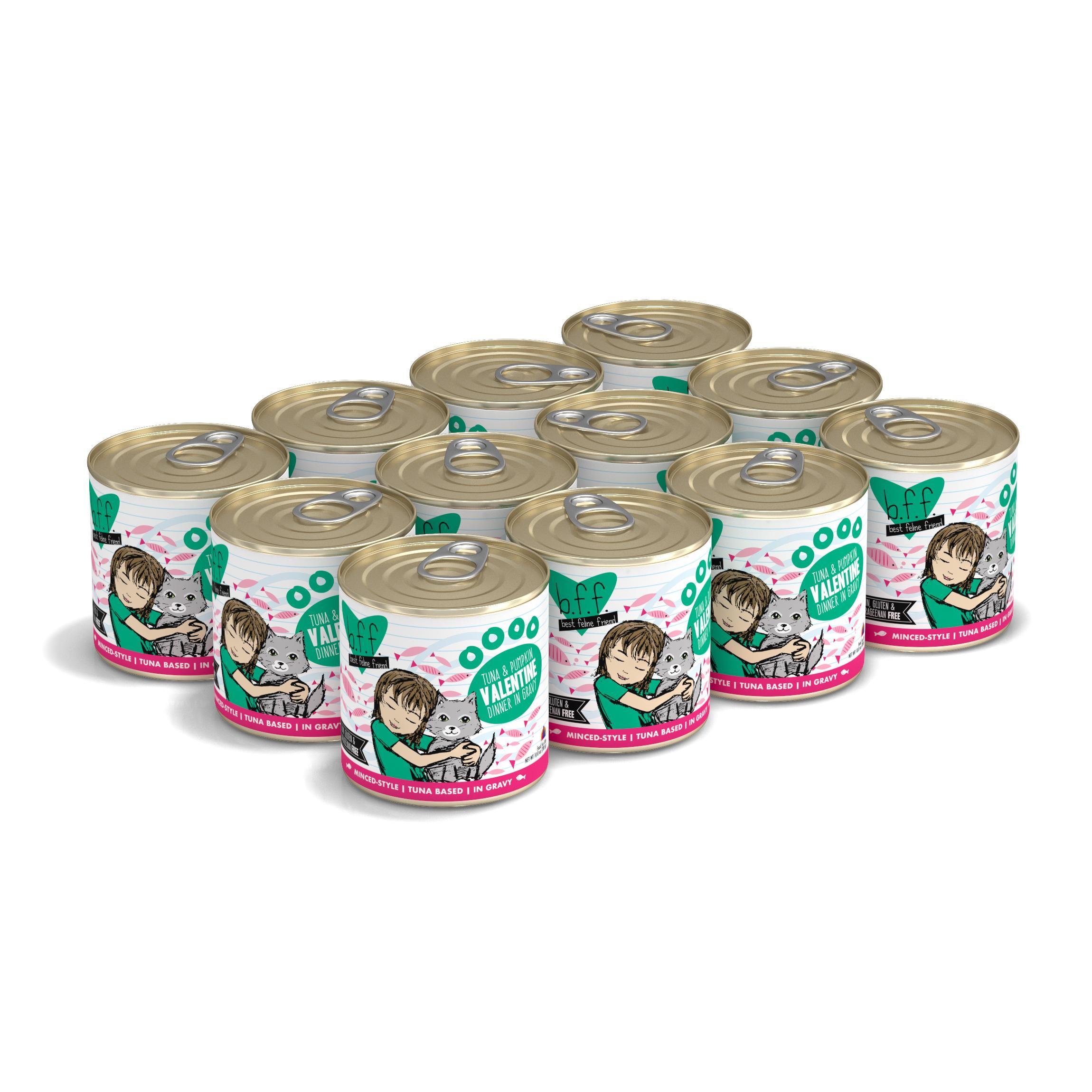 BFF Originals Valentine Tuna & Pumpkin Dinner in Gravy Grain-Free Wet Cat Food, 10-oz, tray of 12