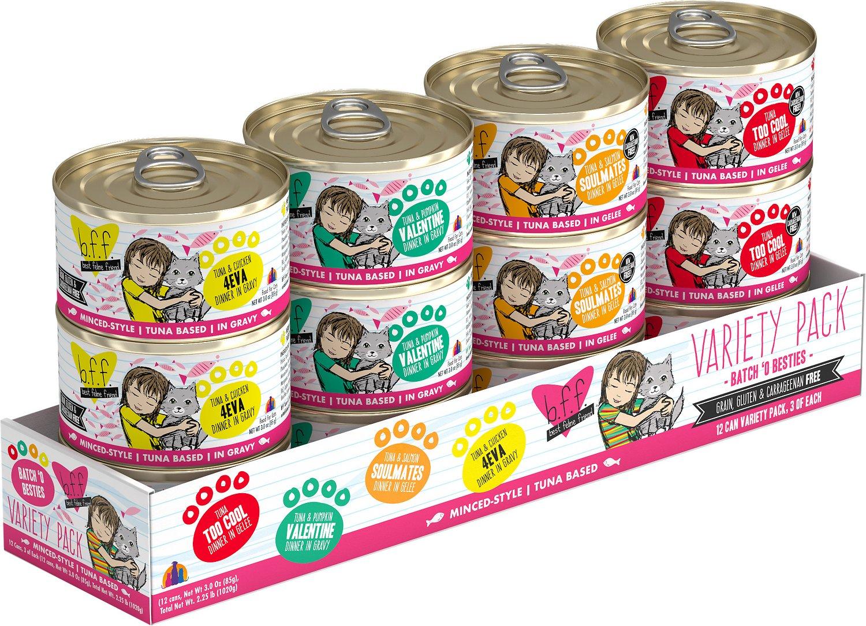 BFF Originals Variety Pack Grain-Free Wet Cat Food, 3-oz, case of 12