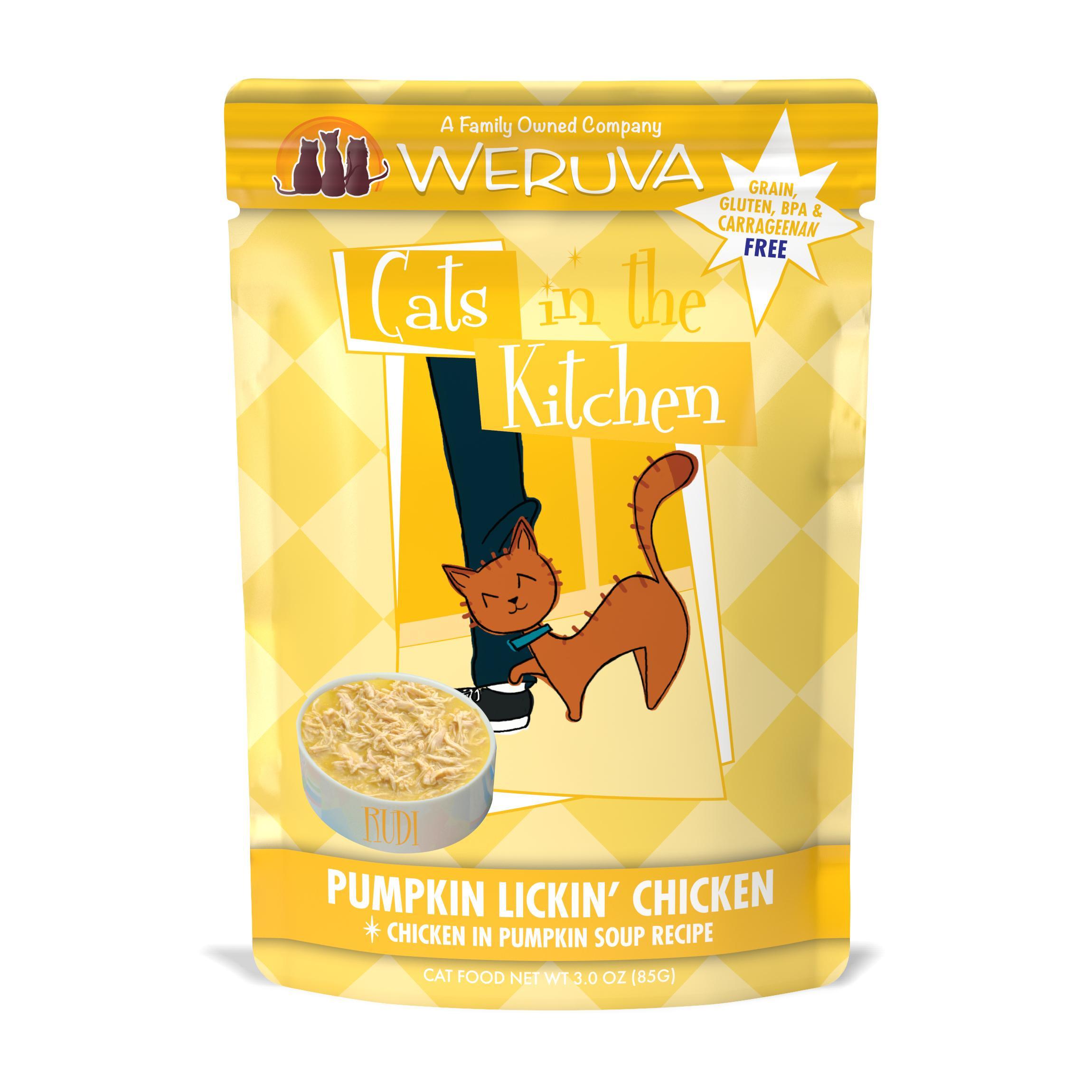 Weruva Cats in the Kitchen Pumpkin Lickin' Chicken in Pumpkin Soup Recipe Grain-Free Wet Cat Food Image