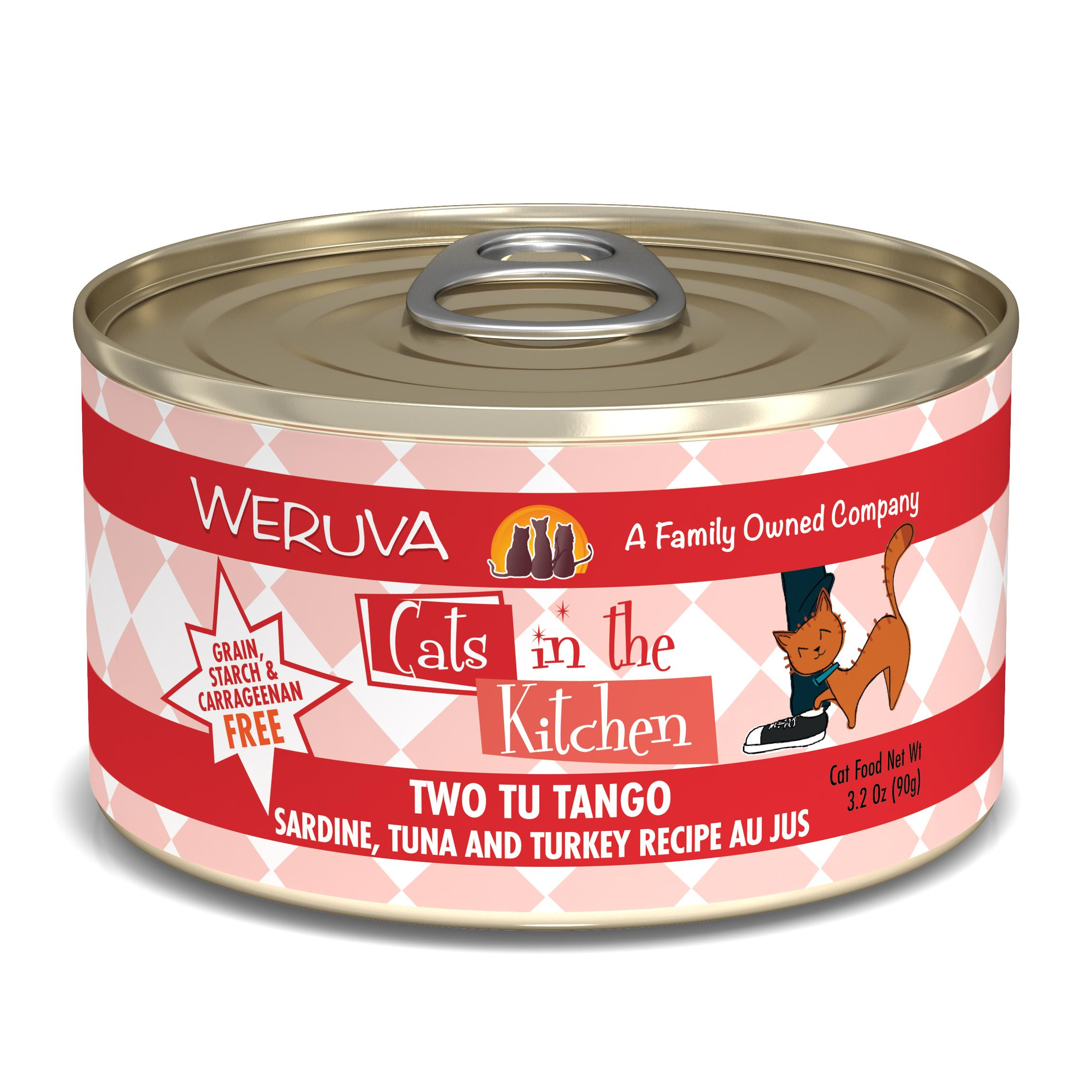 Weruva Cats in the Kitchen Two Tu Tango Sardine, Tuna & Turkey Au Jus Grain-Free Wet Cat Food Image