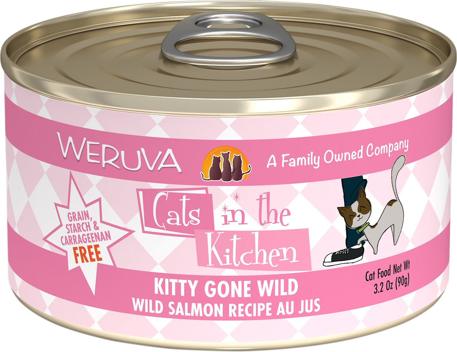 Weruva Cats in the Kitchen Kitty Gone Wild Salmon Au Jus Grain-Free Wet Cat Food Image