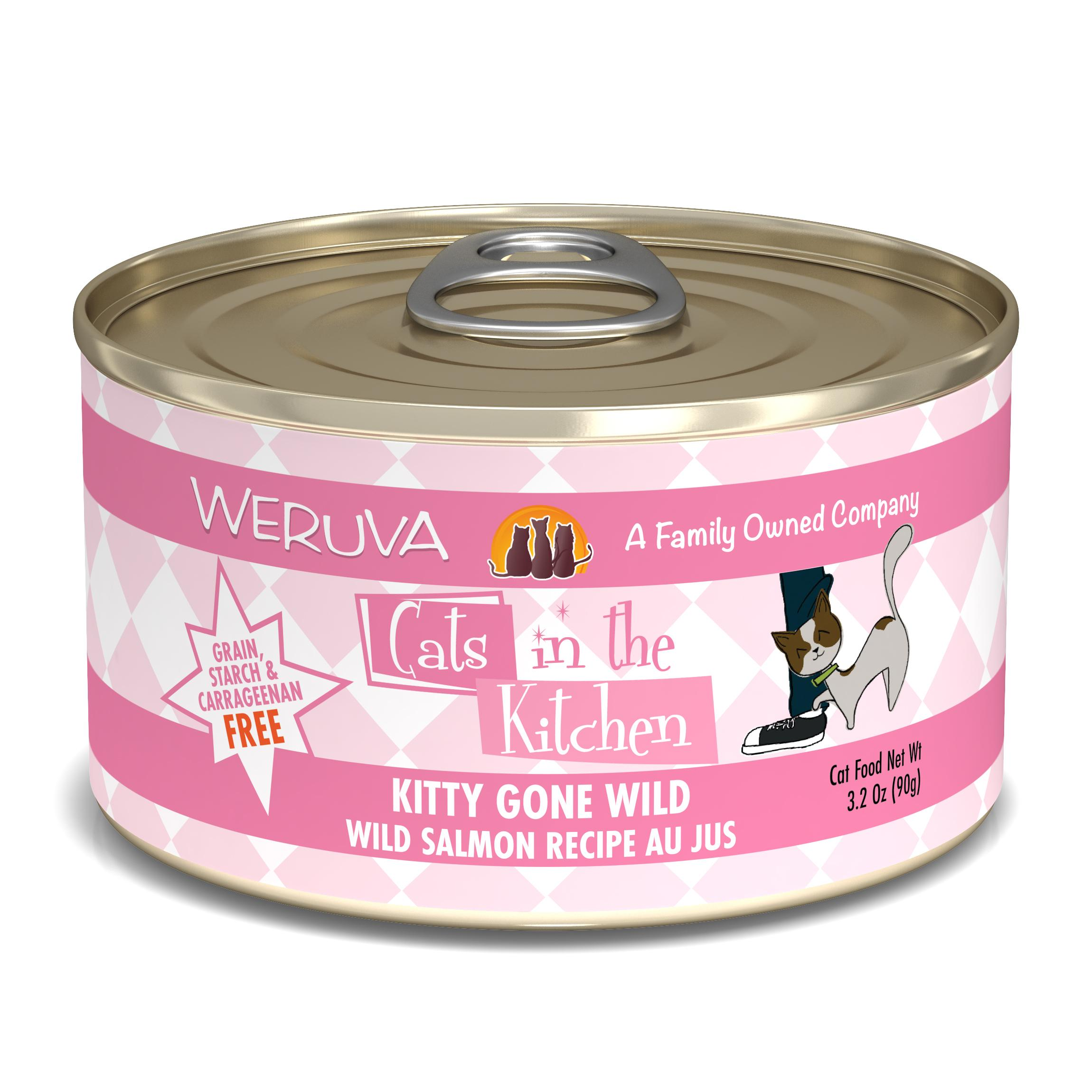 Weruva Cats in the Kitchen Kitty Gone Wild Salmon Au Jus Grain-Free Wet Cat Food Image