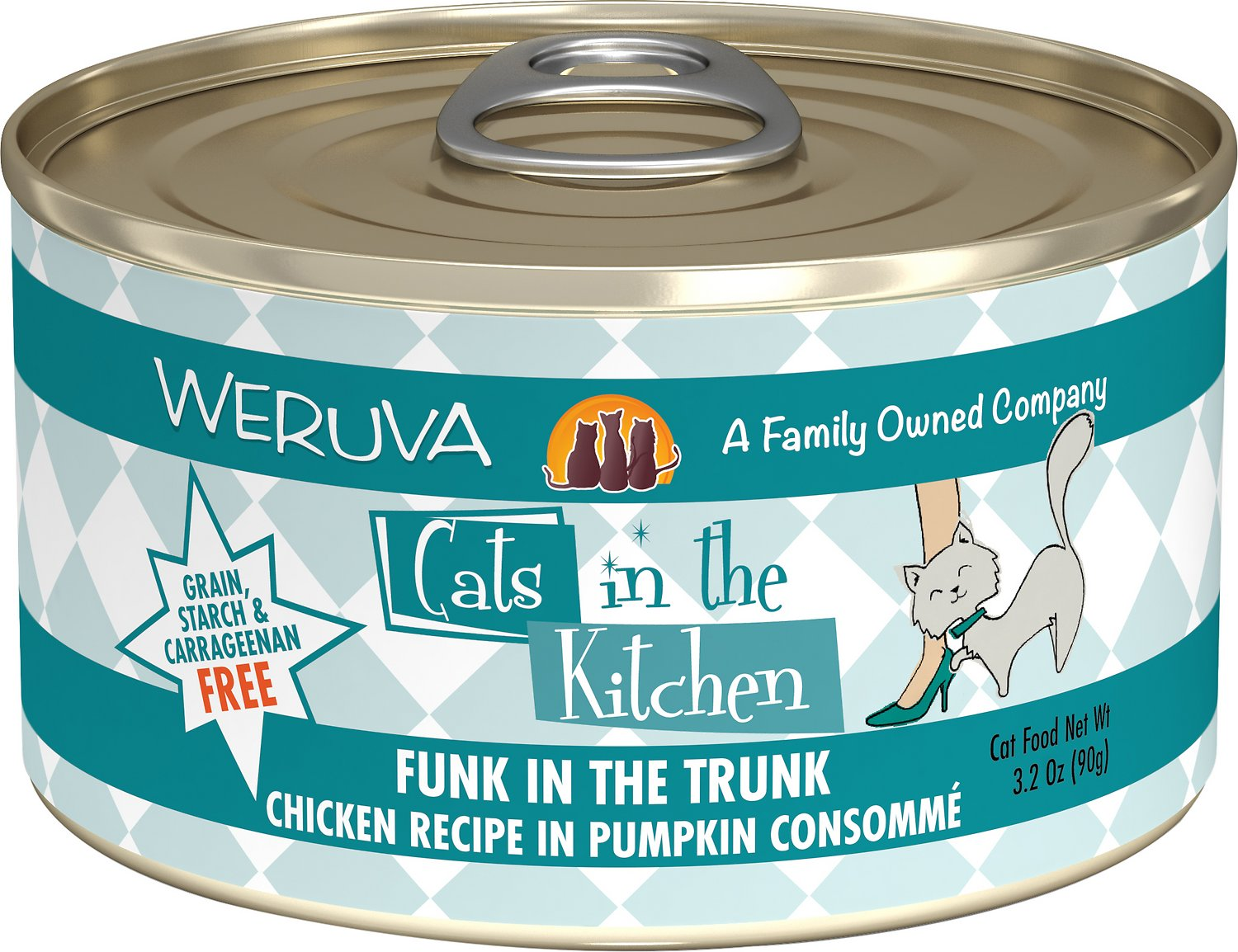 Weruva Cats in the Kitchen Funk In The Trunk Chicken in Pumpkin Consomme Grain-Free Wet Cat Food Image