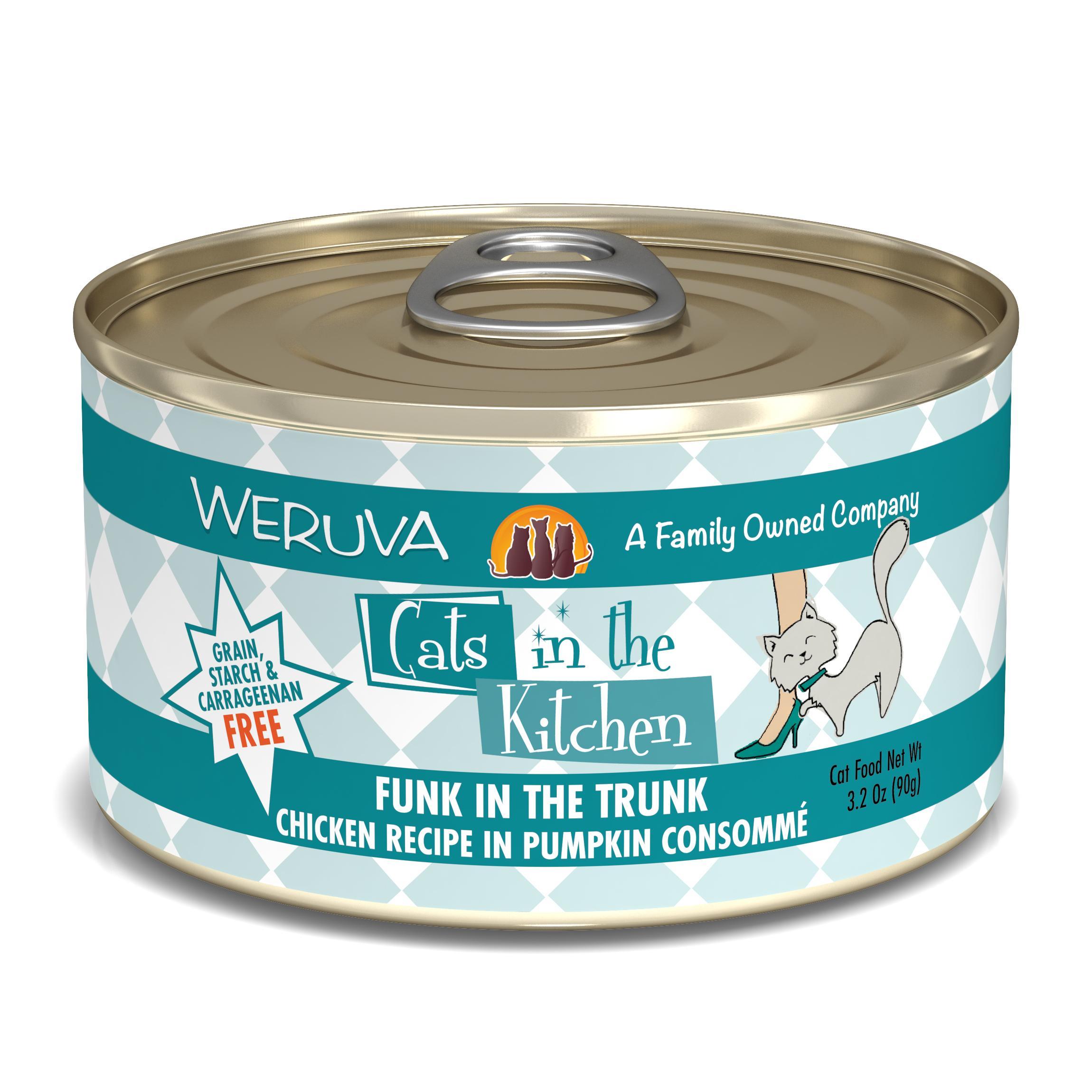 Weruva Cats in the Kitchen Funk In The Trunk Chicken in Pumpkin Consomme Grain-Free Wet Cat Food, 3.2-oz