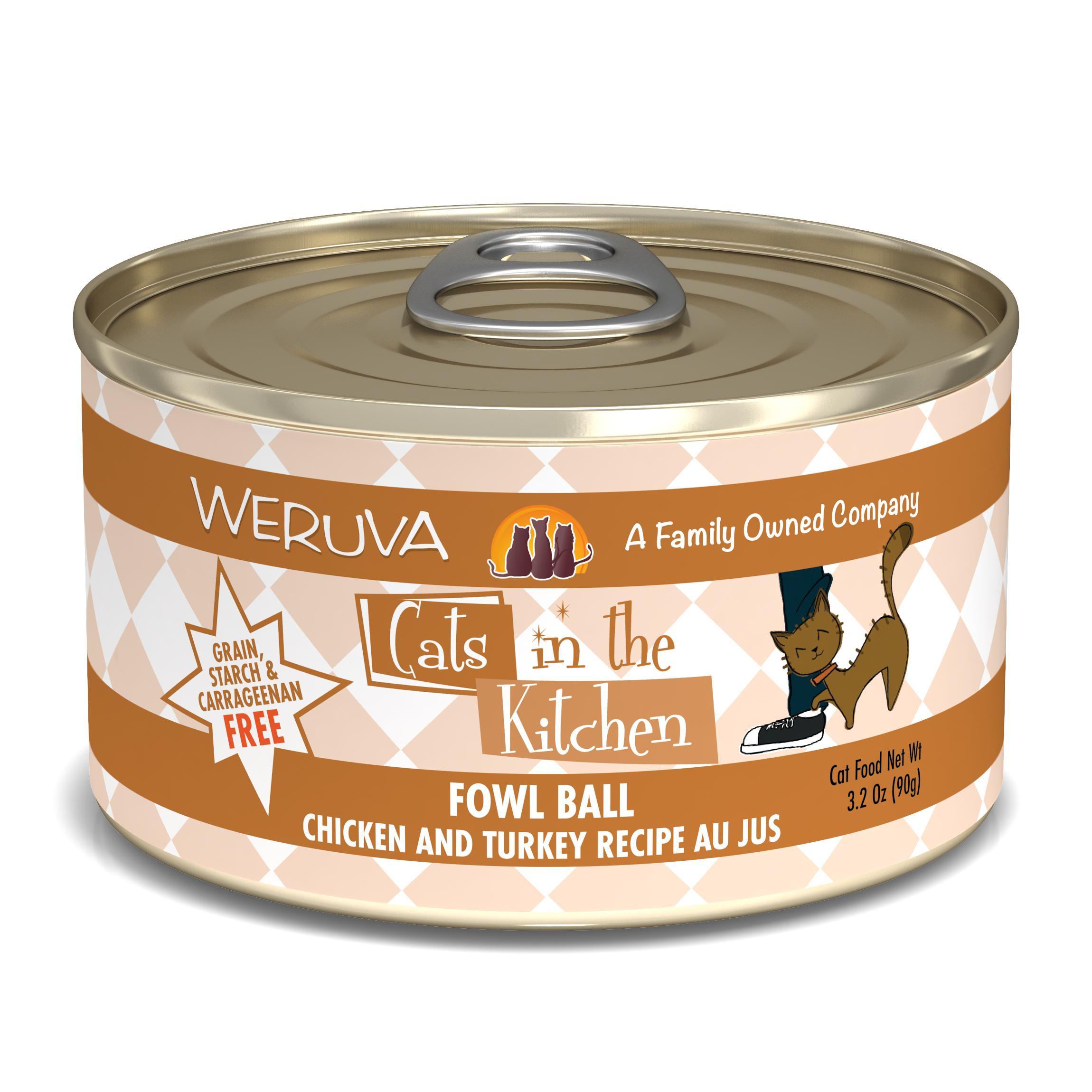Weruva Cats in the Kitchen Fowl Ball Chicken & Turkey Au Jus Grain-Free Wet Cat Food Image