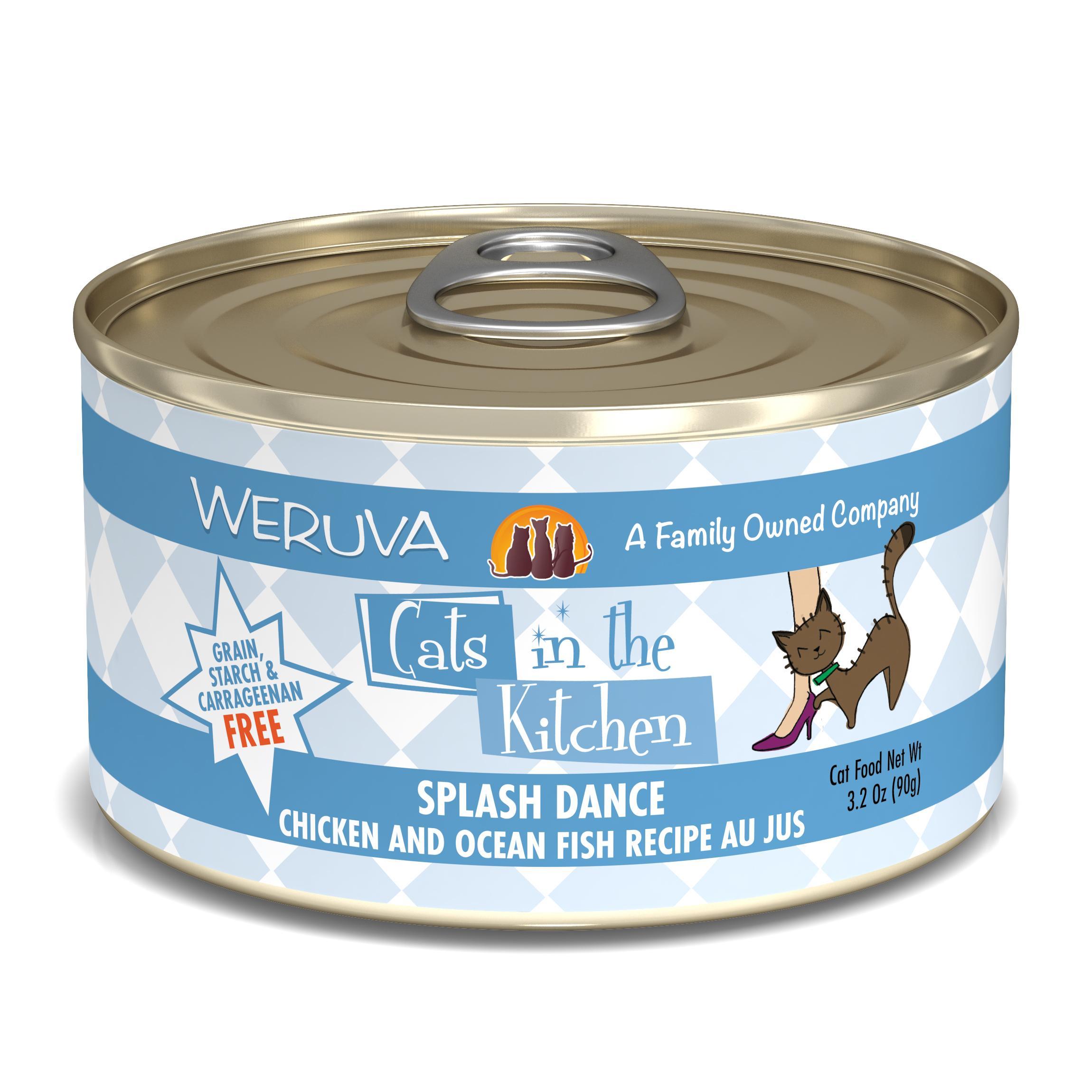 Weruva Cats in the Kitchen Splash Dance Chicken & Ocean Fish Au Jus Grain-Free Wet Cat Food Image