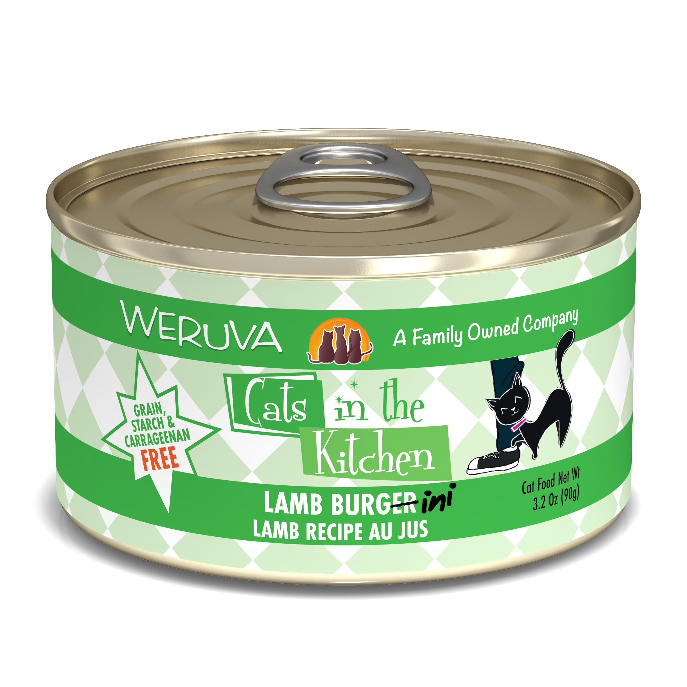 Weruva Cats in the Kitchen Lamb Burgini Lamb Au Jus Grain-Free Wet Cat Food, 3.2-oz