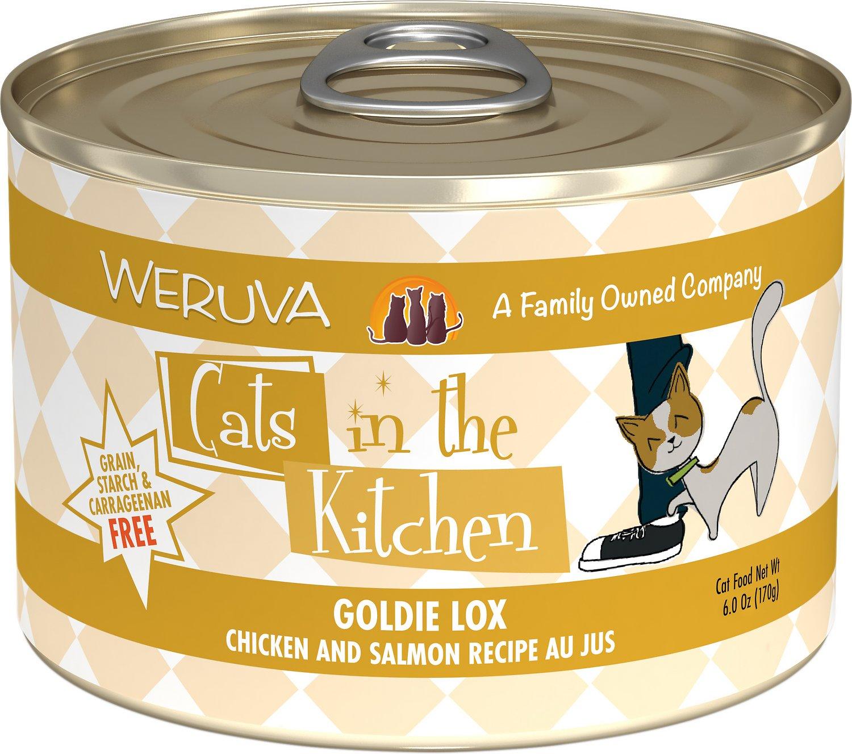 Weruva Cats in the Kitchen Goldie Lox Chicken & Salmon Au Jus Grain-Free Wet Cat Food, 6-oz