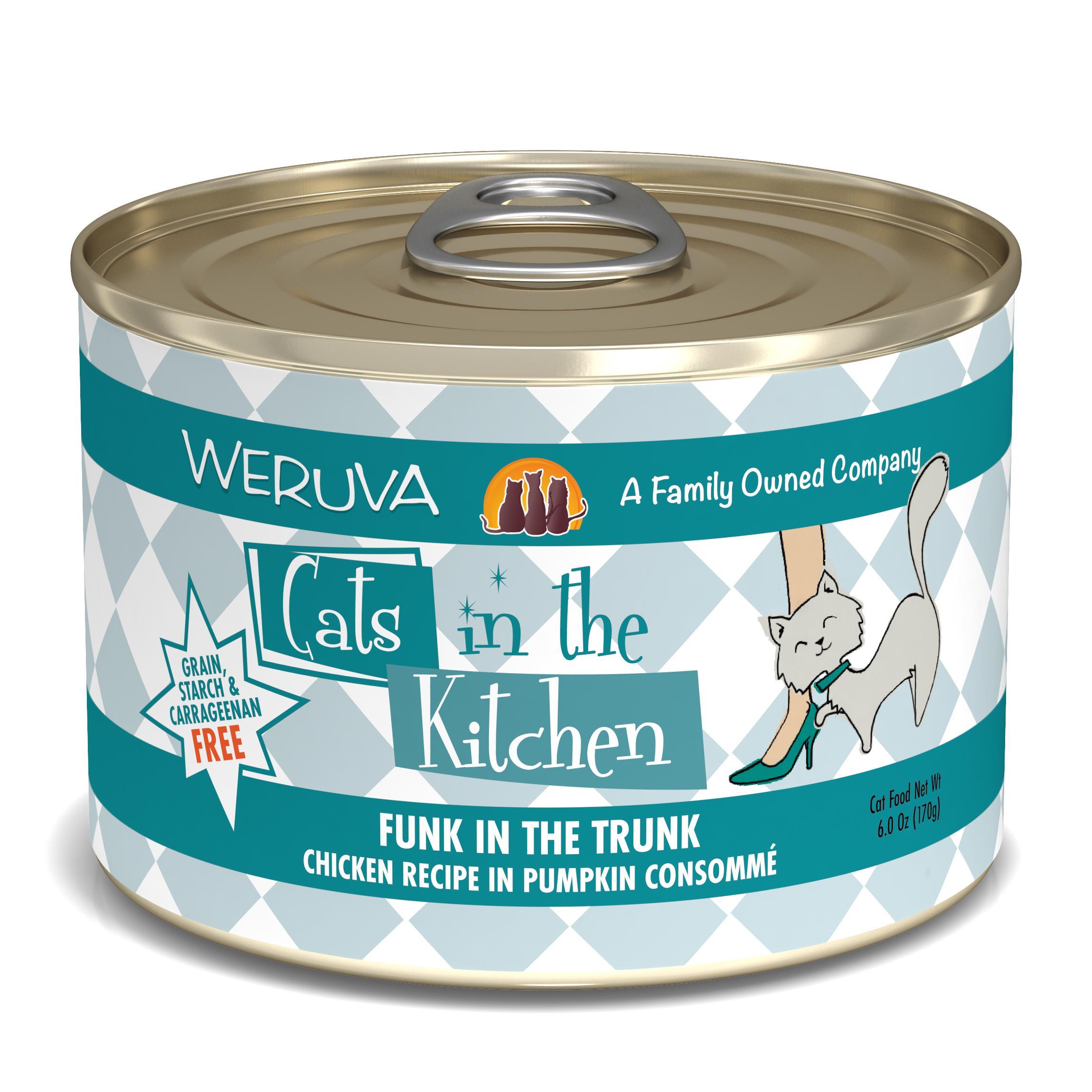 Weruva Cats in the Kitchen Funk In The Trunk Chicken in Pumpkin Consomme Grain-Free Wet Cat Food, 6-oz