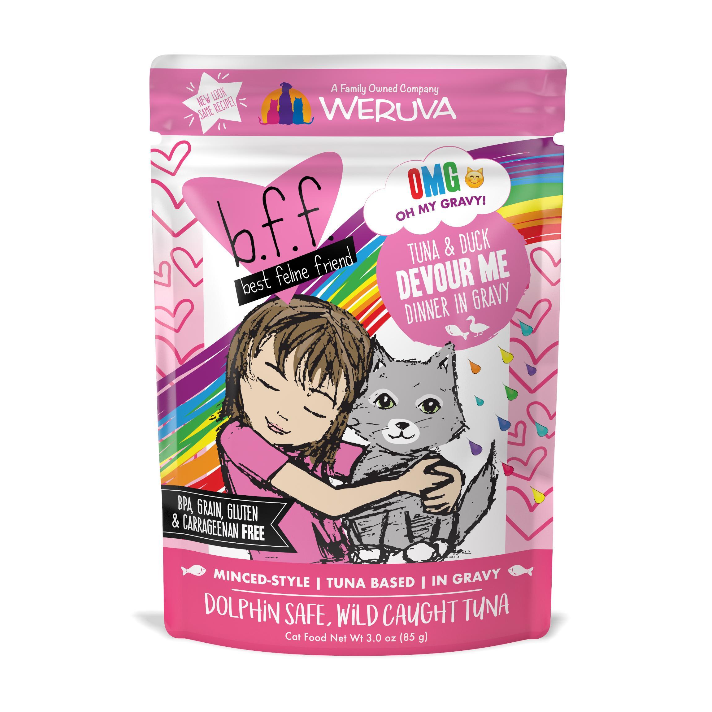 BFF Oh My Gravy! Devour Me Tuna & Duck Dinner in Gravy Grain-Free Wet Cat Food Image