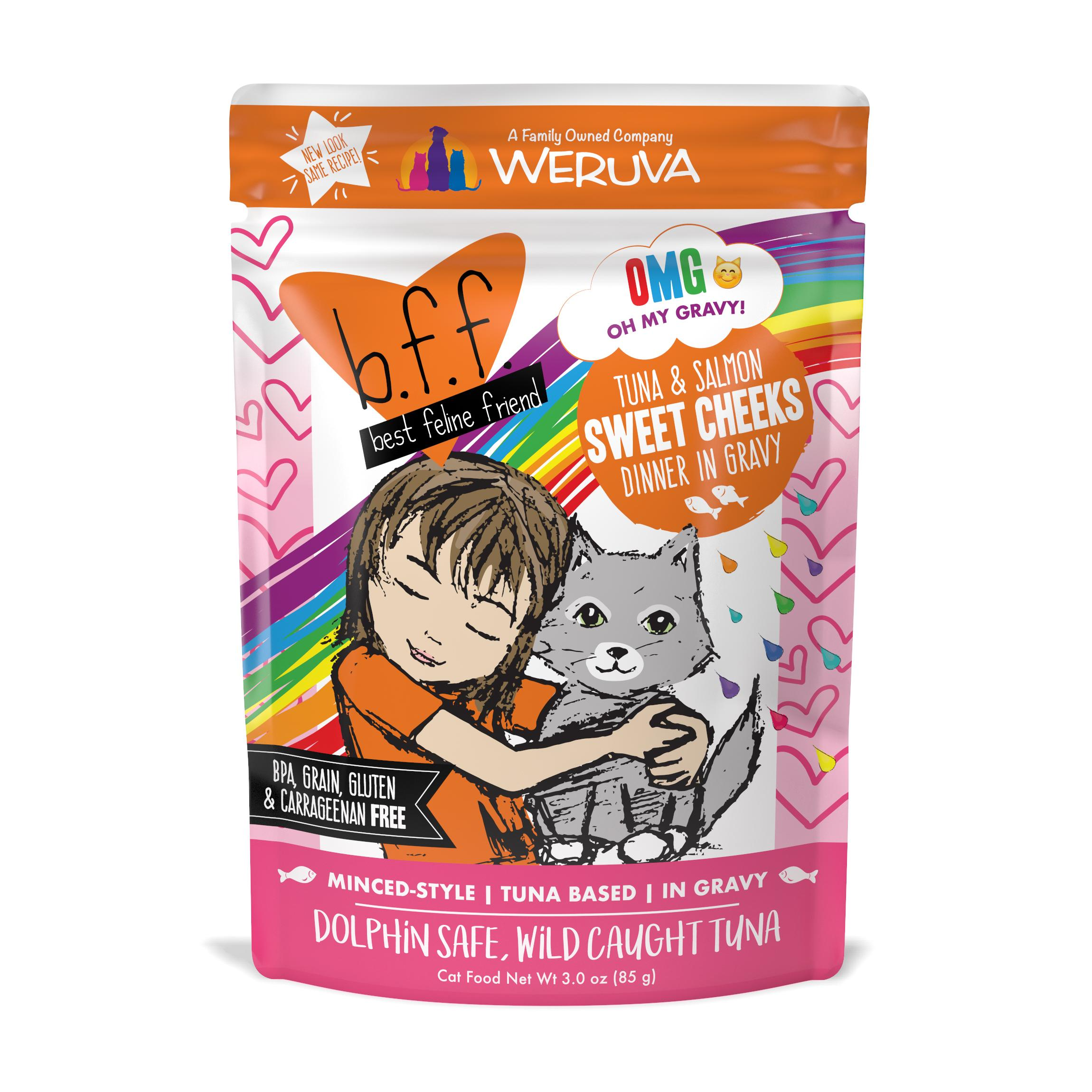 BFF Oh My Gravy! Sweet Cheeks Tuna & Salmon Dinner in Gravy Grain-Free Wet Cat Food Image