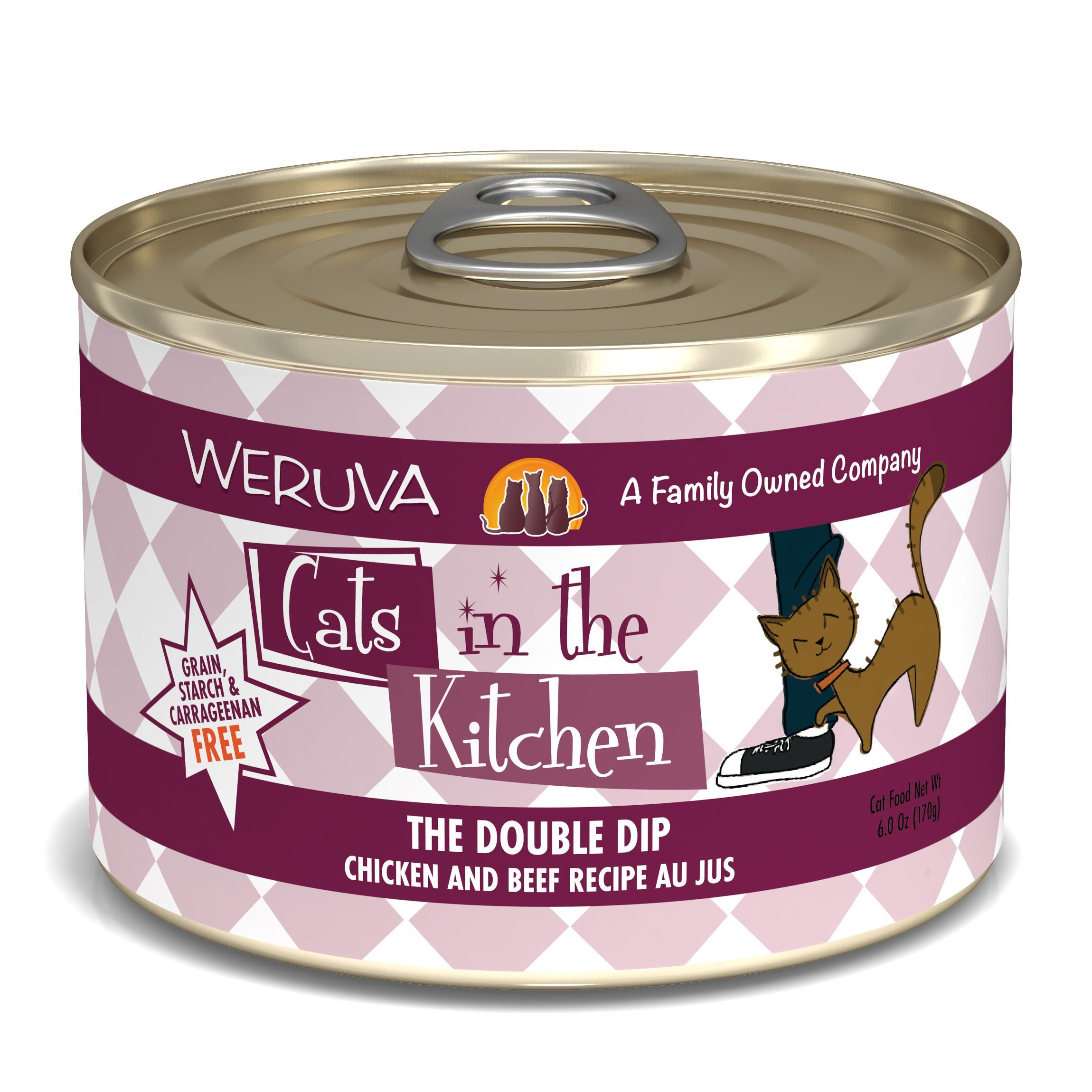 Weruva Cats in the Kitchen The Double Dip Chicken & Beef Au Jus Grain-Free Wet Cat Food, 6-oz
