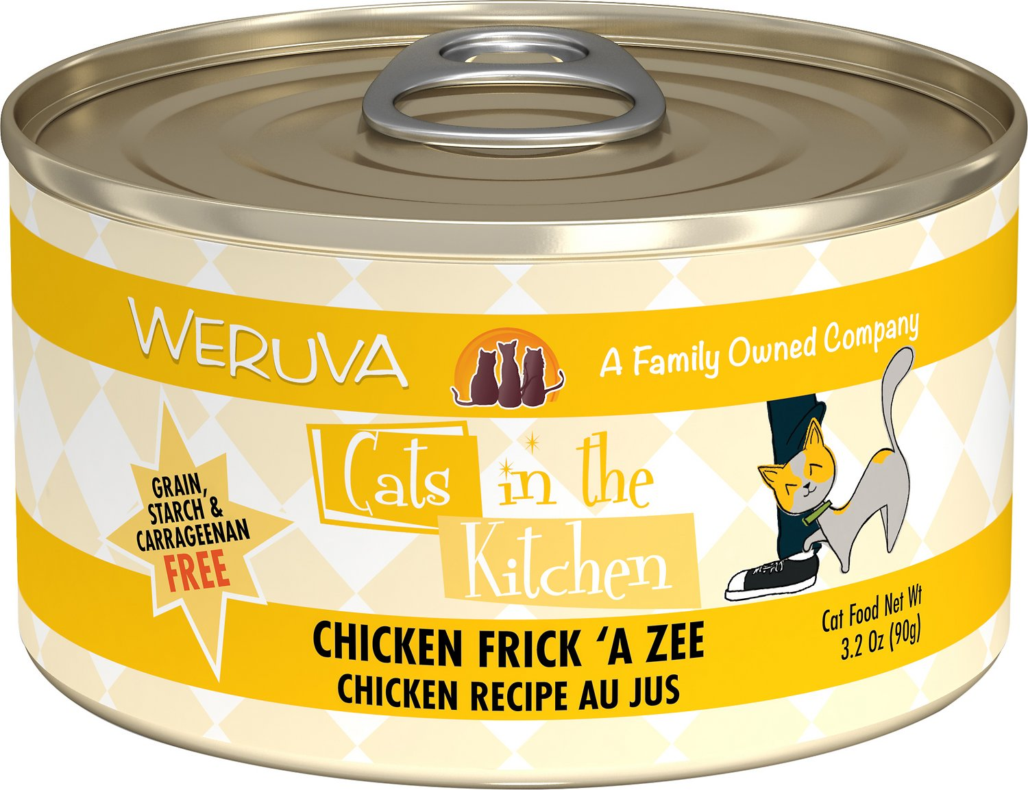 Weruva Cats in the Kitchen Chicken Frick 'A Zee Chicken Recipe Au Jus Grain-Free Wet Cat Food, 3.2-oz