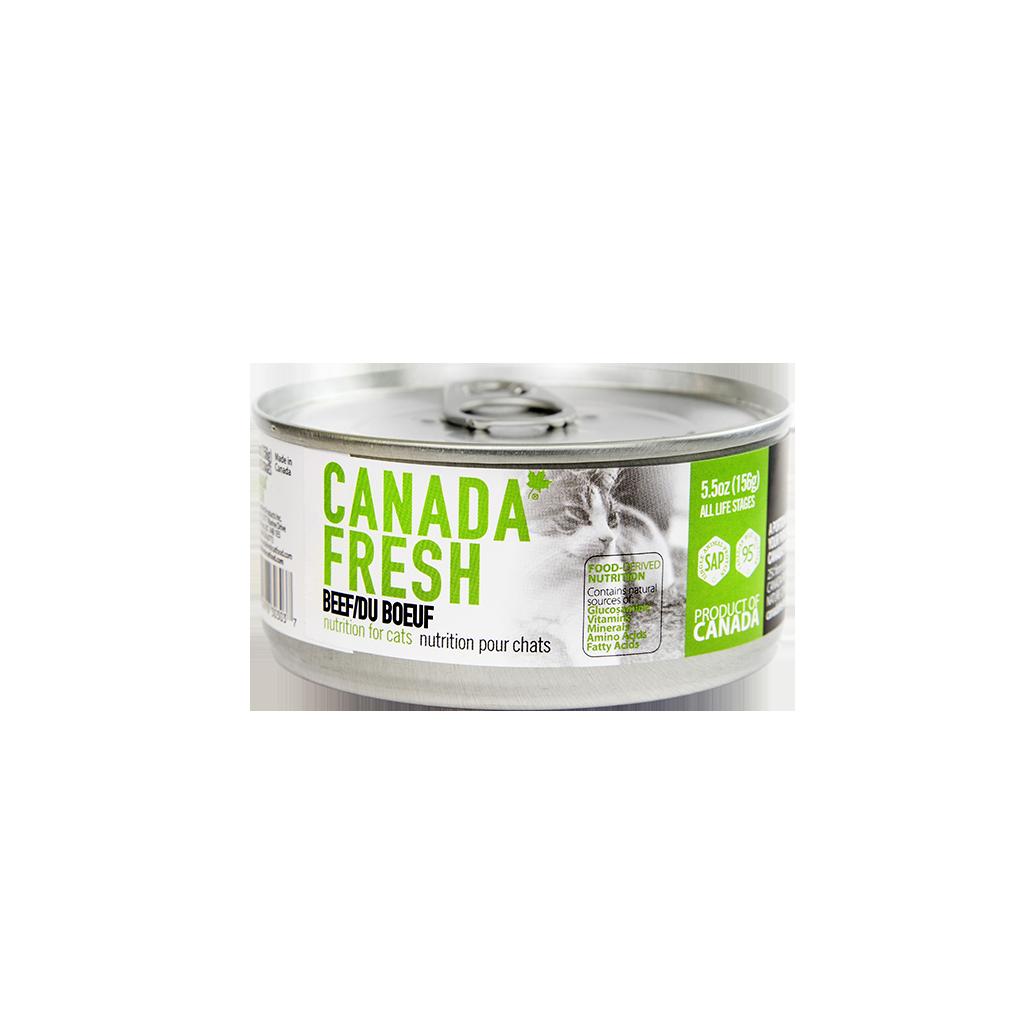PetKind Canada Fresh Beef Formula Wet Cat Food, 5.5-oz 156-g