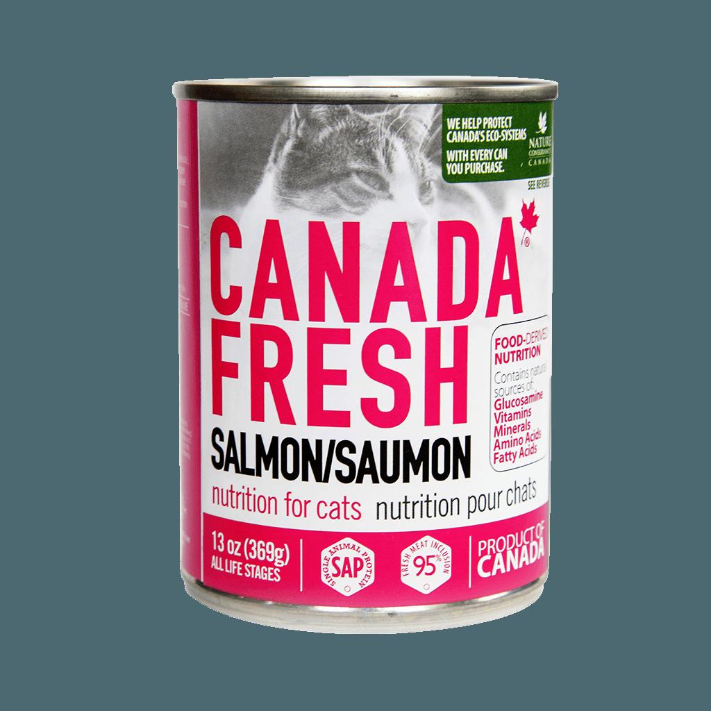 PetKind Canada Fresh Salmon Formula Wet Cat Food, 13-oz|369-g