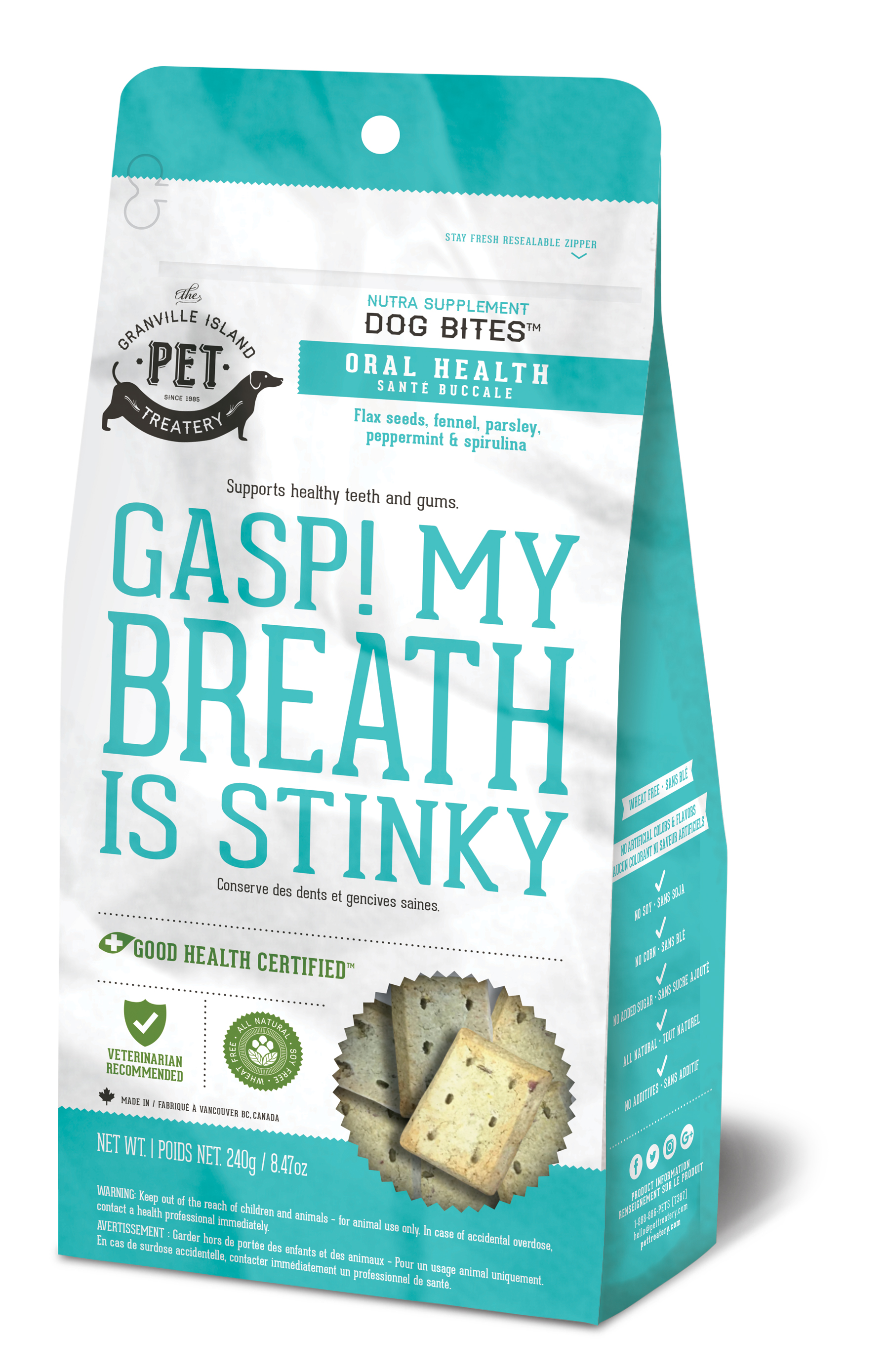 Granville Island Pet Treatery Oral Health Gasp! My Breath is Stinky Dog Treats Image