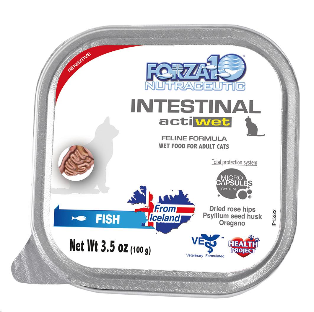 Forza10 Actiwet Intestinal Fish Adult Wet Cat Food, 3.5-oz