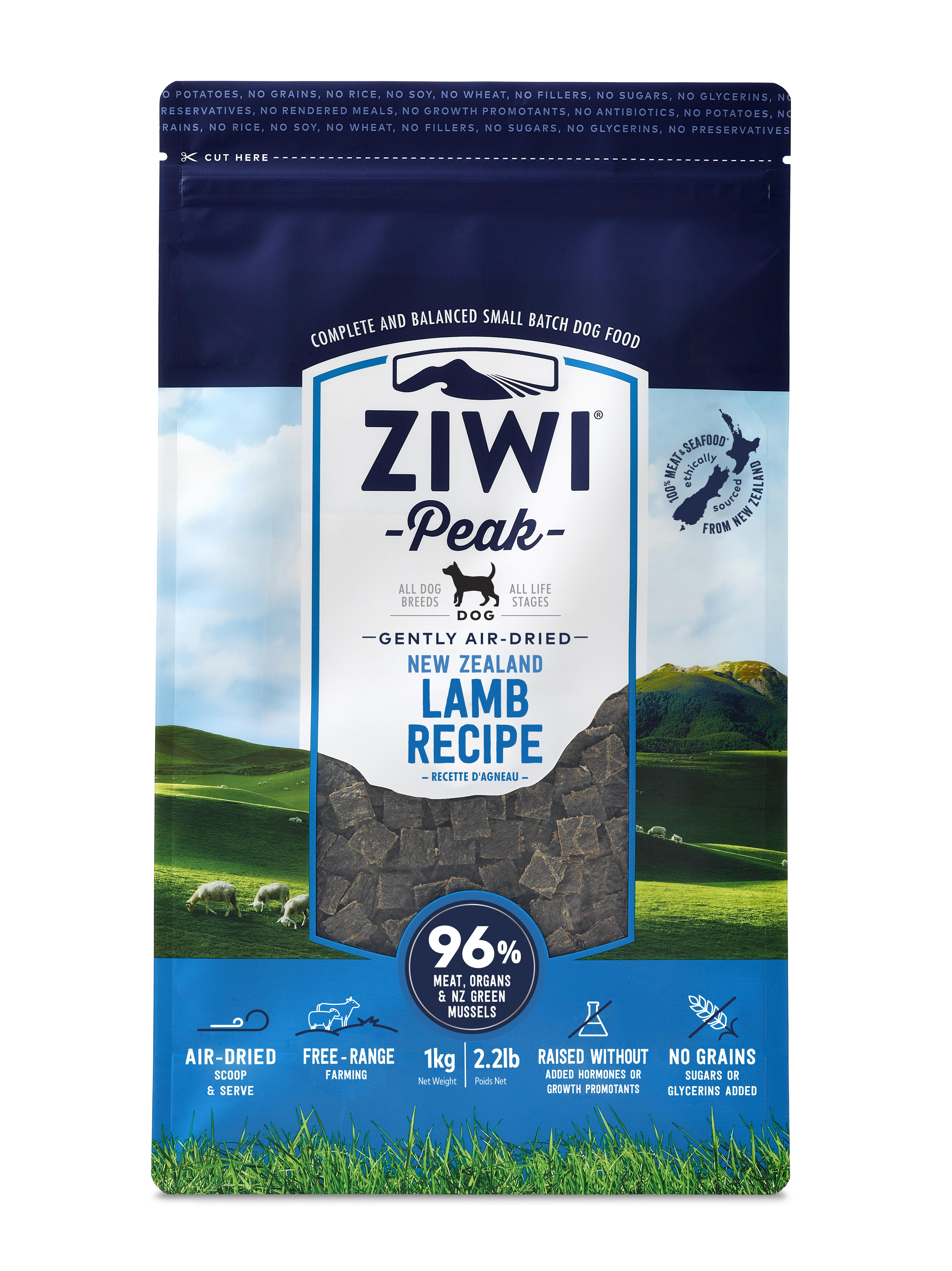 Ziwi Peak Dog Lamb Recipe Grain-Free Air-Dried Dog Food, 2.2-lb