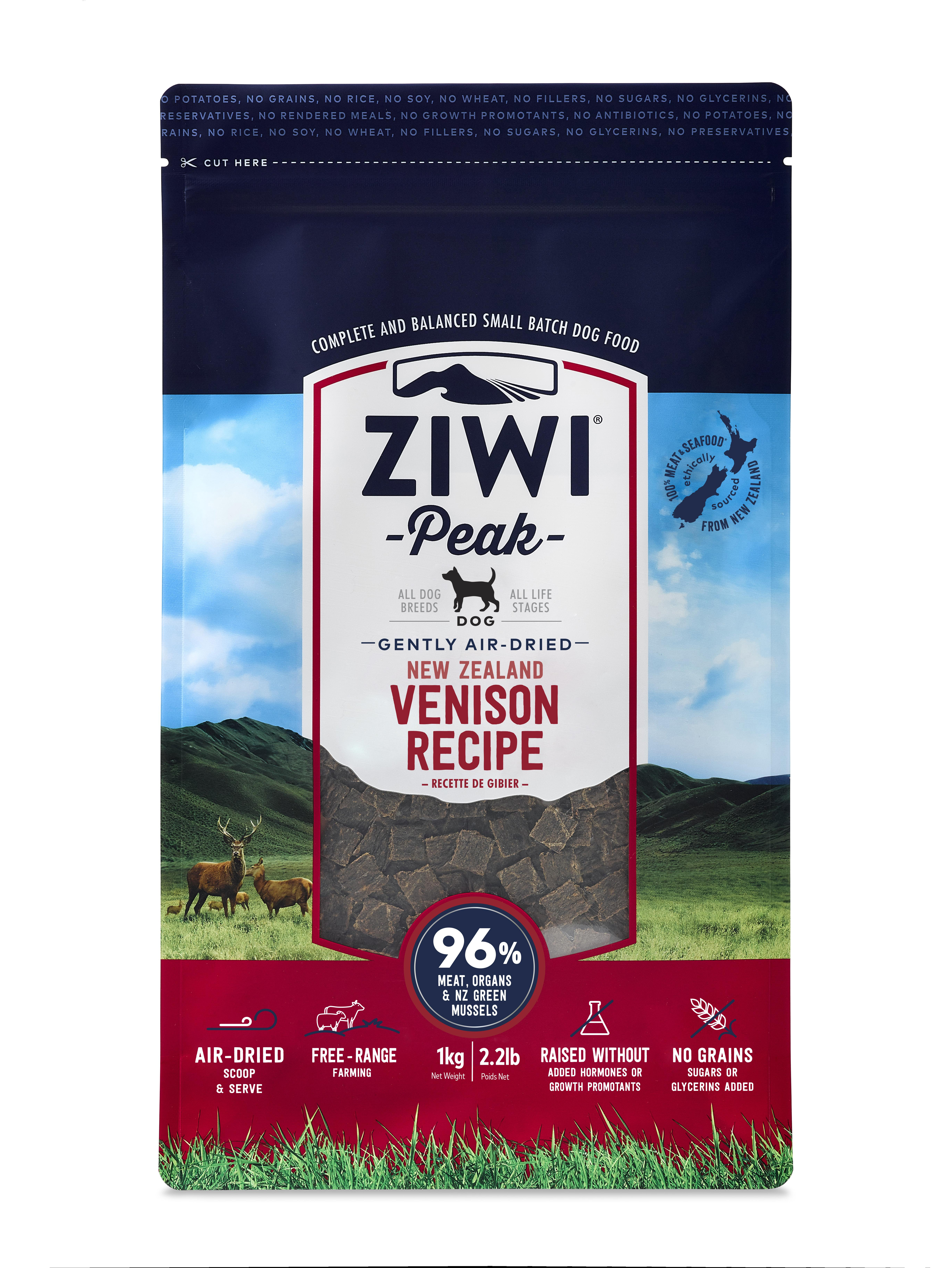 Ziwi Peak Dog Venison Recipe Grain-Free Air-Dried Dog Food, 2.2-lb bag