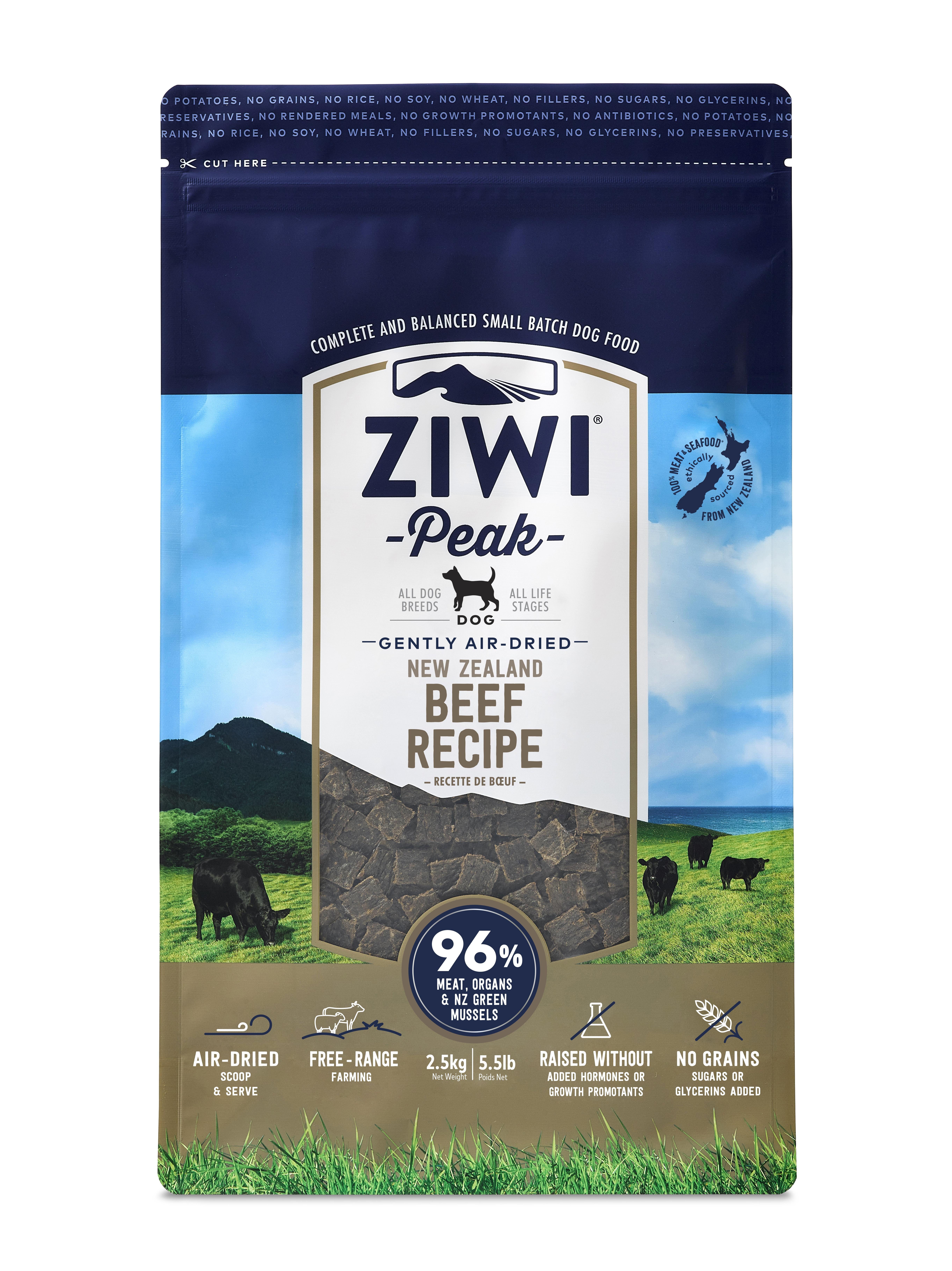 Ziwi Peak Dog Beef Recipe Grain-Free Air-Dried Dog Food, 5.5-lb bag