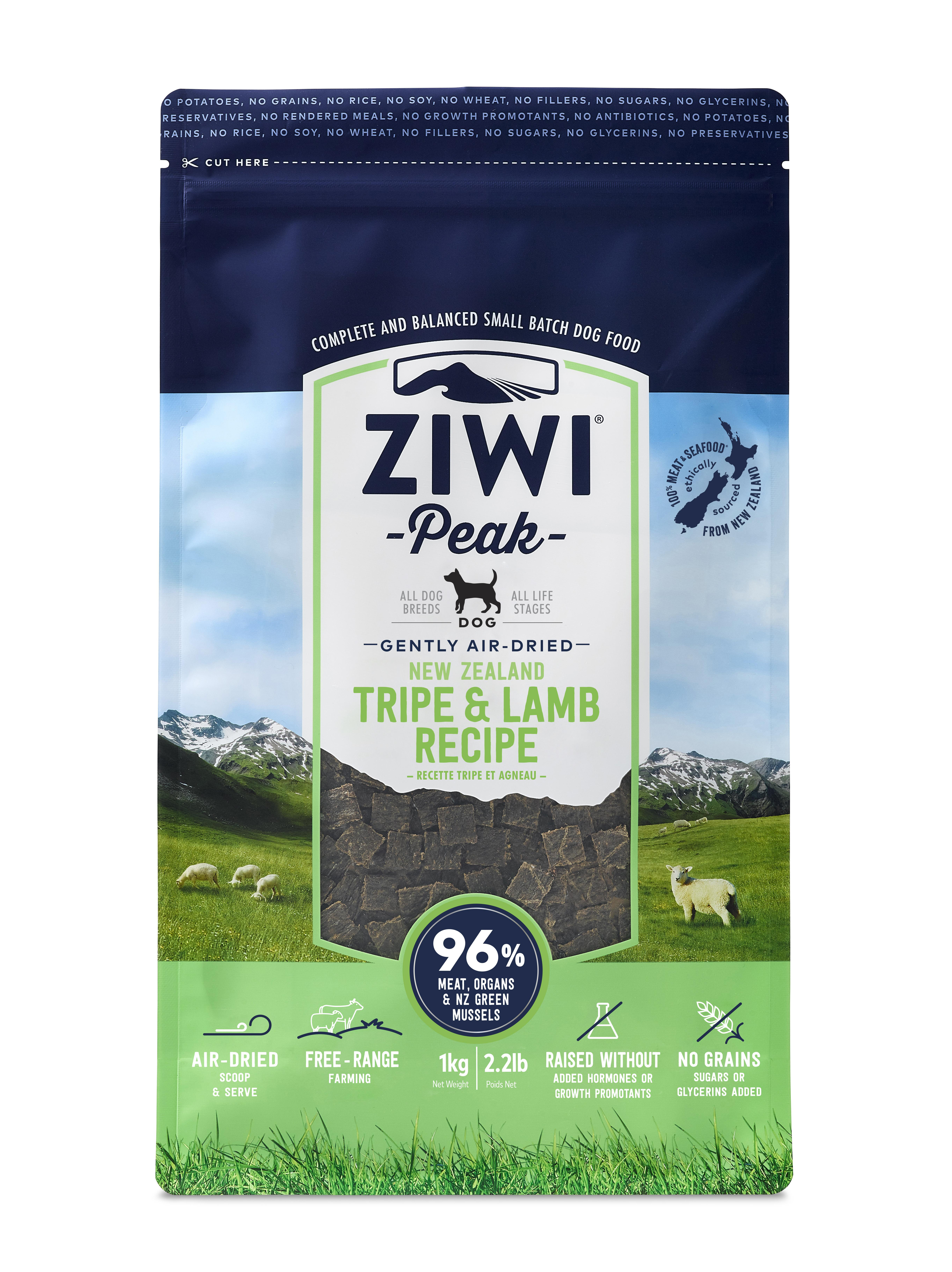 Ziwi Peak Dog Tripe & Lamb Recipe Air-Dried Dog Food, 2.2-lb bag