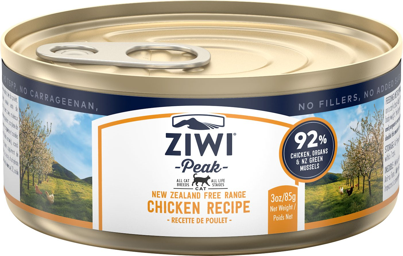 Ziwi Peak Cat Chicken Recipe Canned Cat Food, 3-oz