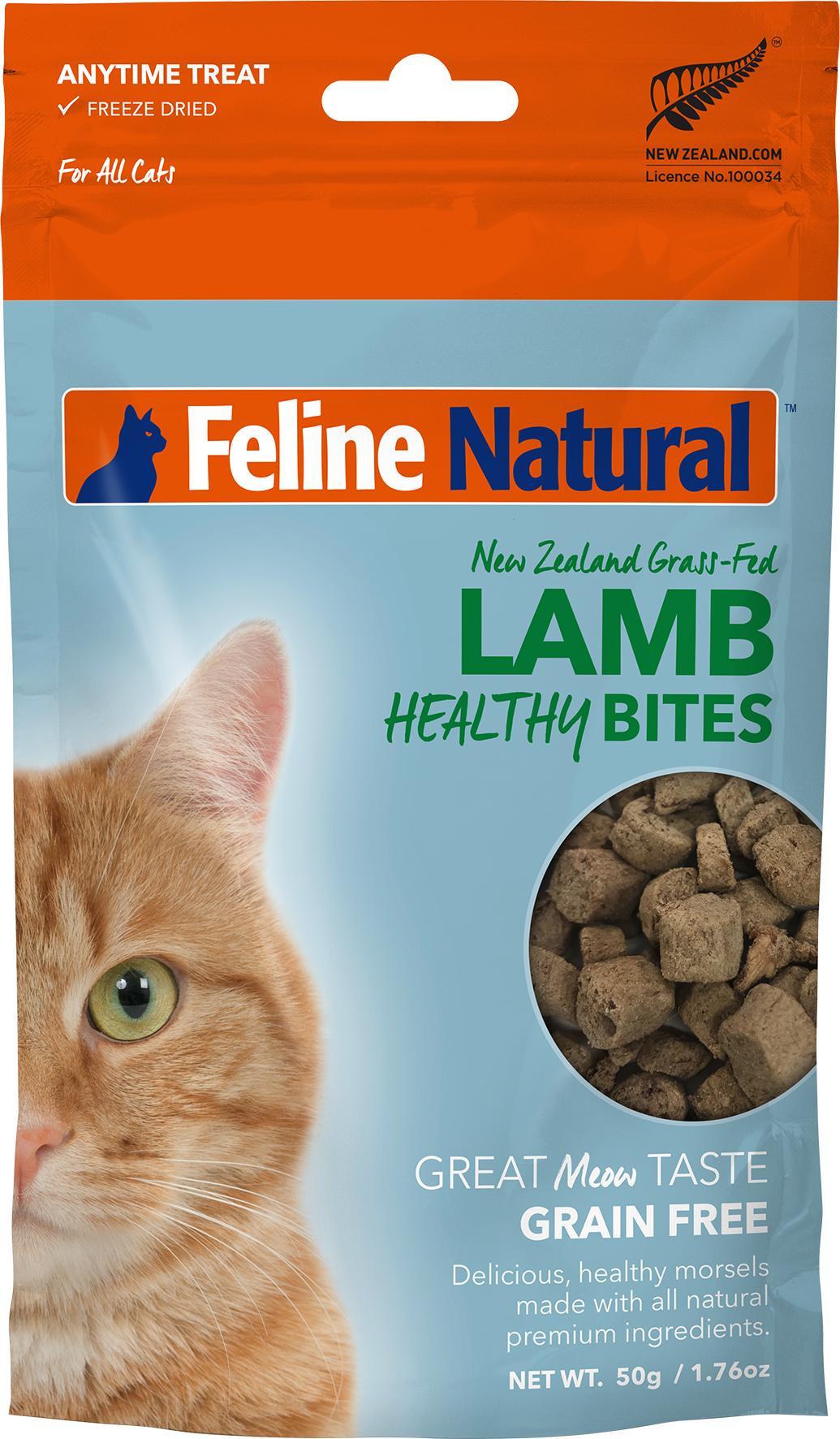 Feline Natural Healthy Bites Lamb Freeze-Dried Cat Treats, 1.76-oz