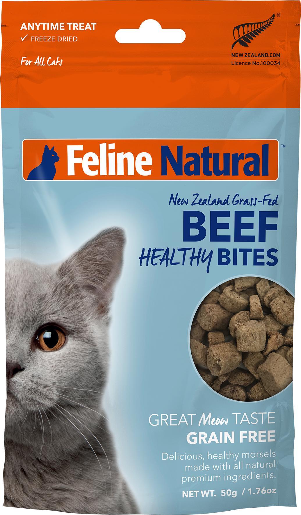 Feline Natural Healthy Bites Beef Freeze-Dried Cat Treats, 1.76-oz