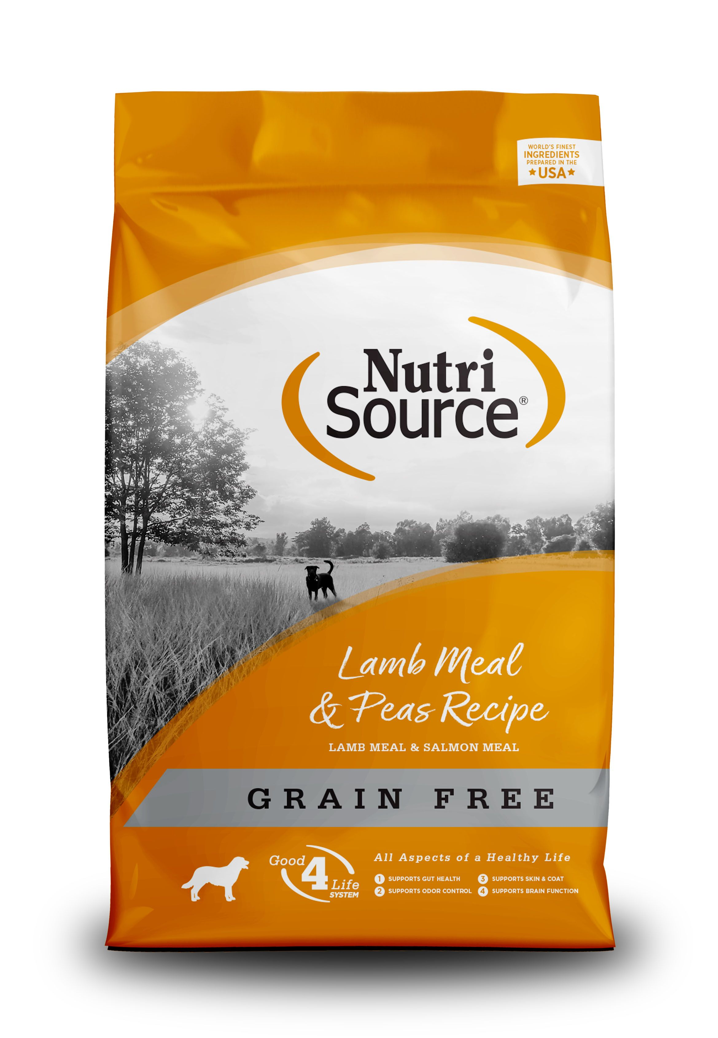 NutriSource Lamb Meal and Peas Formula Grain Free Dry Dog Food Image