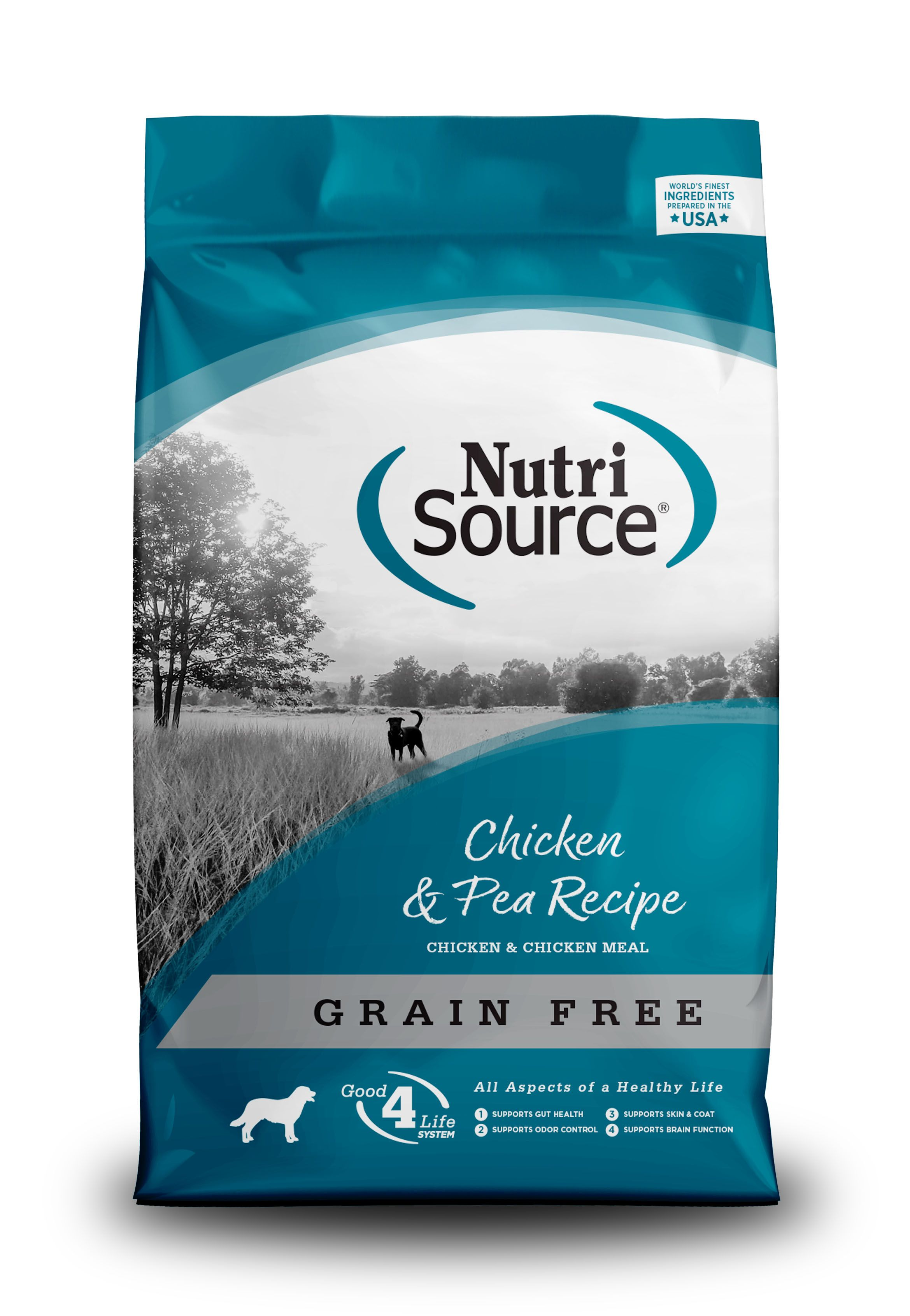 NutriSource Grain Free Chicken & Pea Dry Dog Food, 30-lb