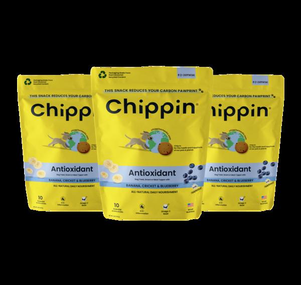 Chippin Snacks Cricket treats for Dogs, Banana & Blueberry, 5-oz