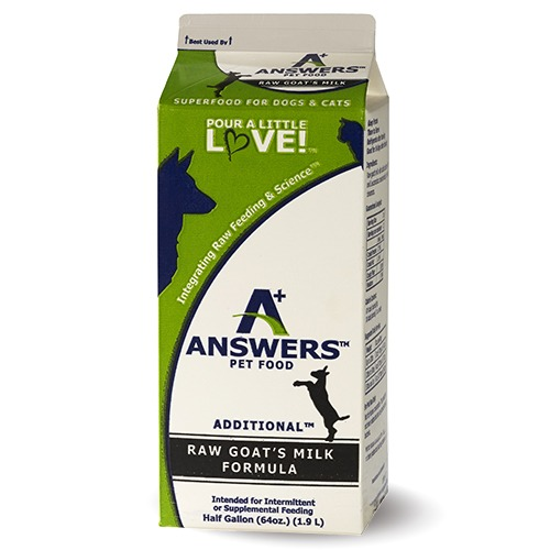 Answers Additional Raw Goat's Milk for Cats & Dogs, 64-oz Size: 64-oz
