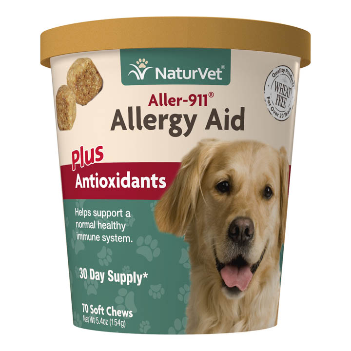 NaturVet Aller-911 Allergy Aid Plus Antioxidants Dog Soft Chews, 70-count (Size: 70-count) Image